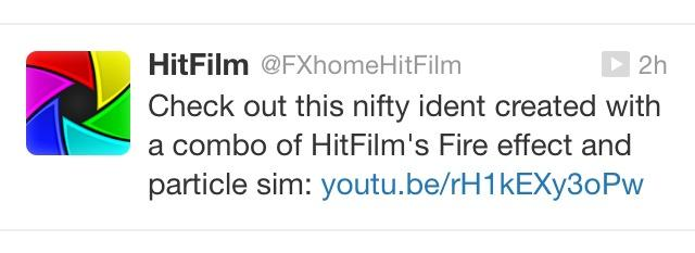 Hitfilm tweeted out my last concept test, making me feel all special and stuff.