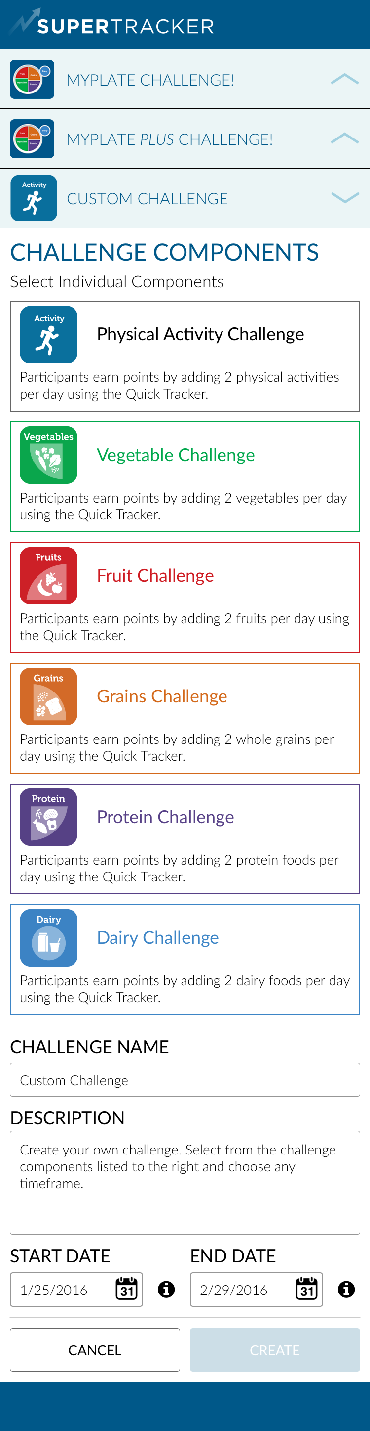 Custom Challenge - Components