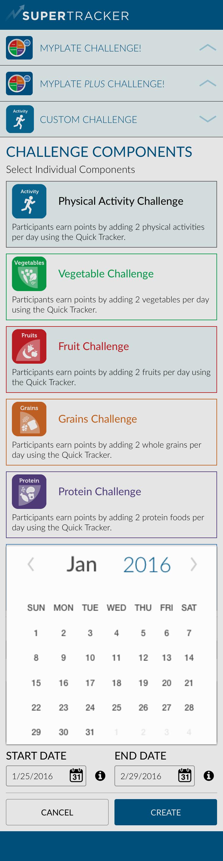 Custom Challenge - Components > Calendar Picker