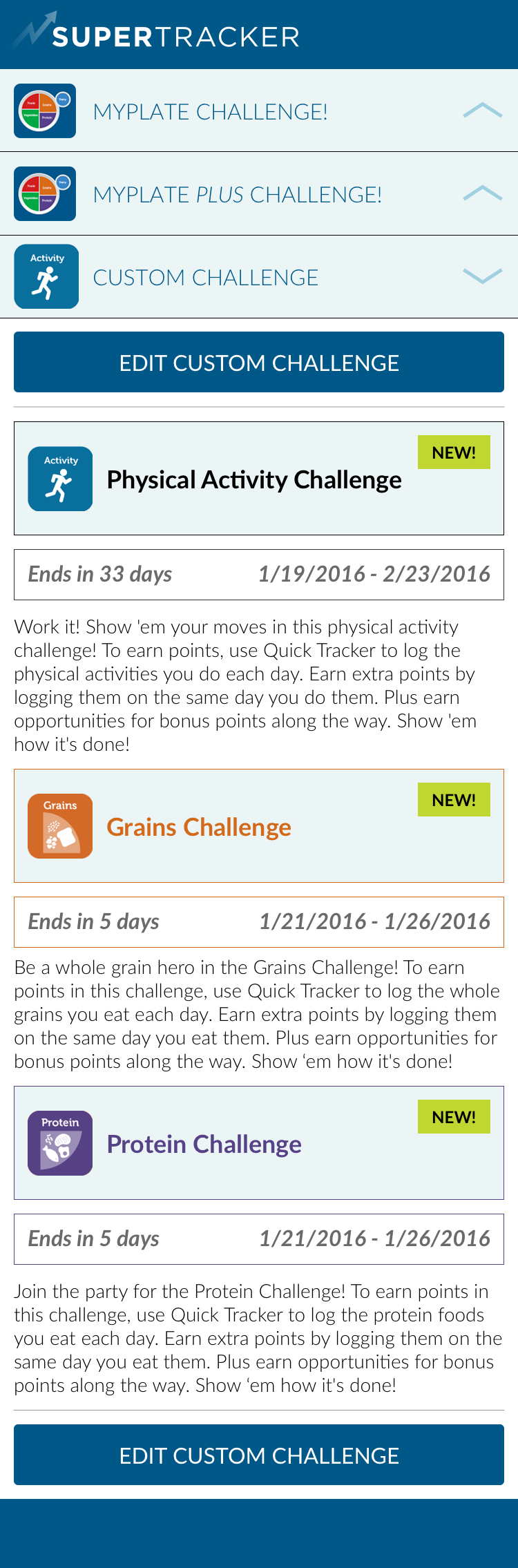 Custom - Main Group > Challenges