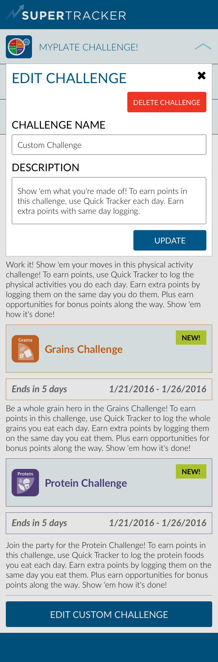 Custom - Main Group > Edit Challenge