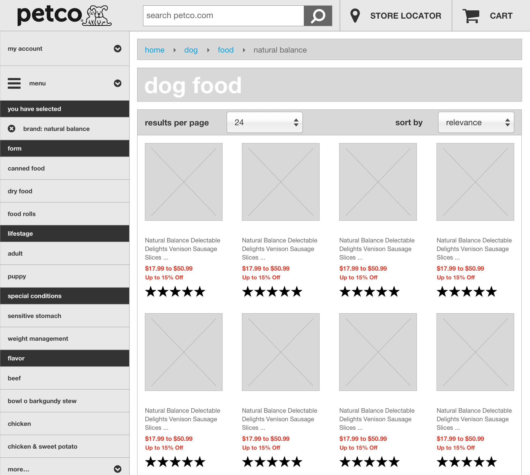 Category Page - Filter