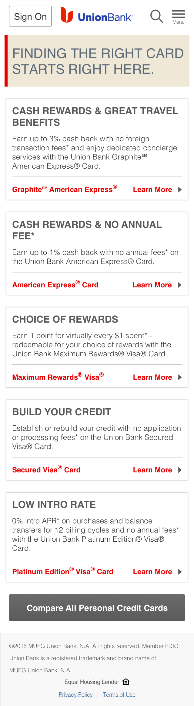 Personal - Credit Cards - Alt