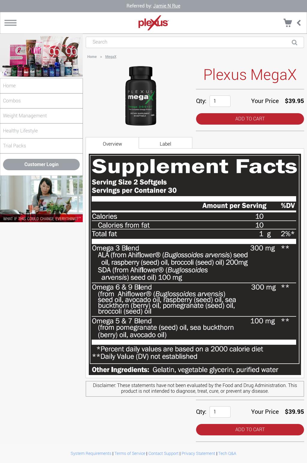 Retail - Product Details Page > Label
