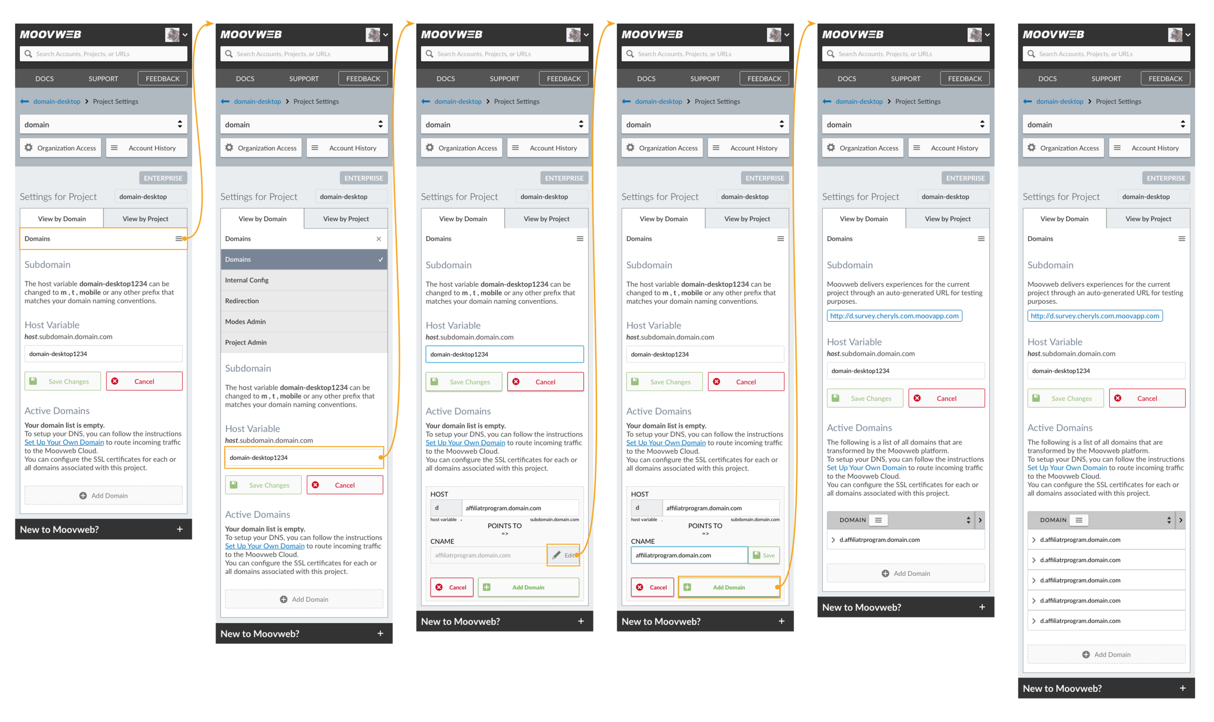 Domain Mobile Flow