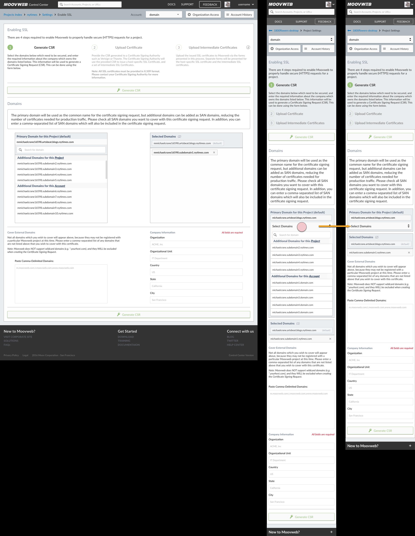 Generate CSR - Domain Selected