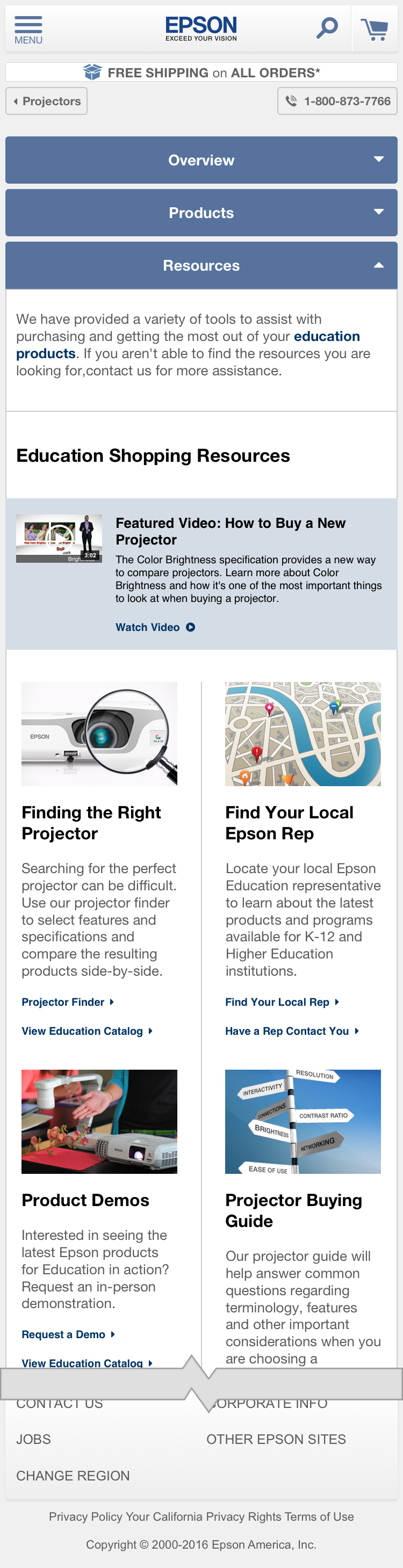 Education Projectors - Resources