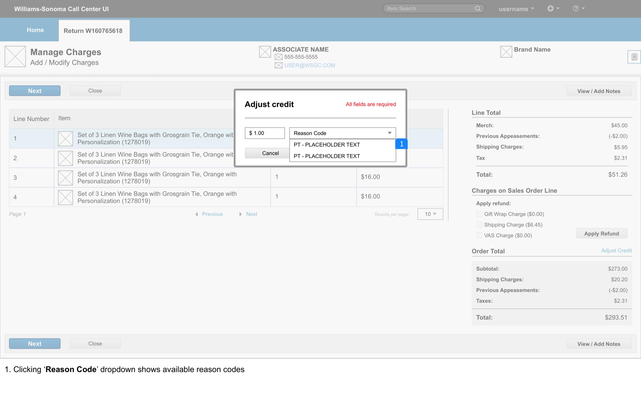 Manage Adjustments > modal V2 2