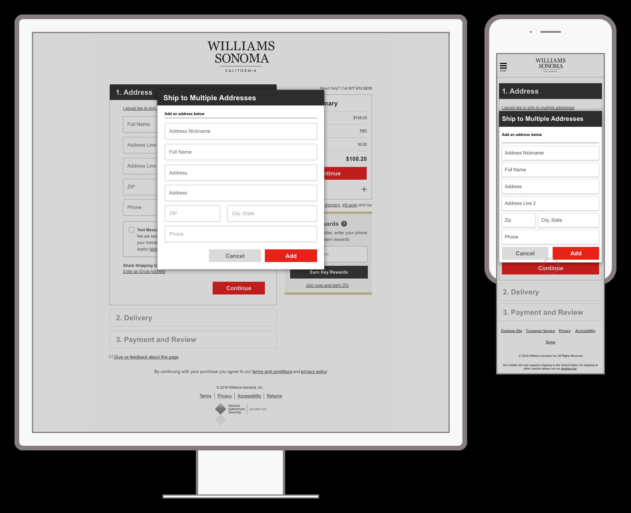 Shipping - Multiple Address - Enter