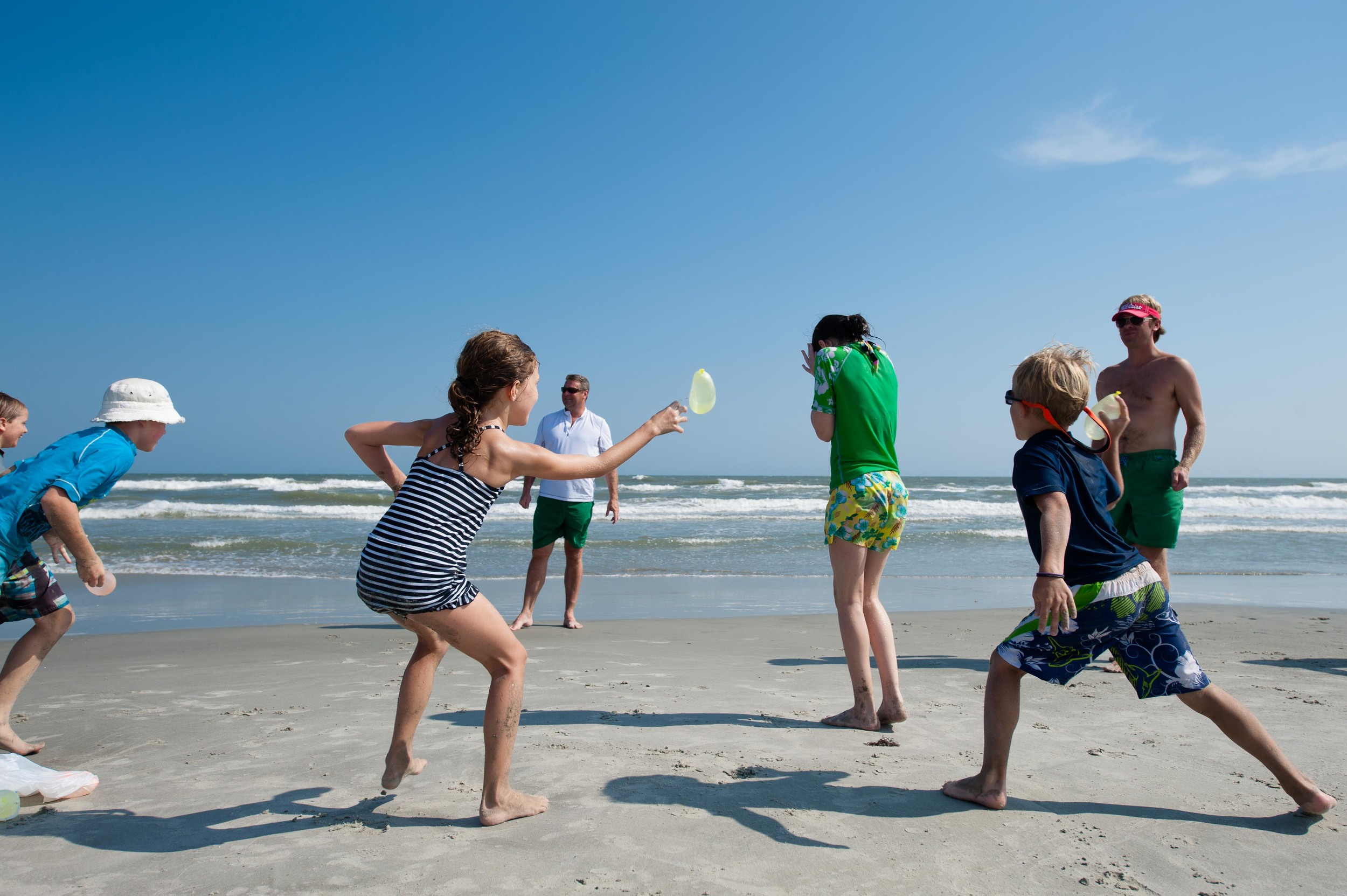 As is tradition, we ended the final hours on the beach with a water balloon fight.  One hour of filling balloons for three minutes of launching them at cousins and friends.  Kinda like cooking for Thanksgiving dinner.