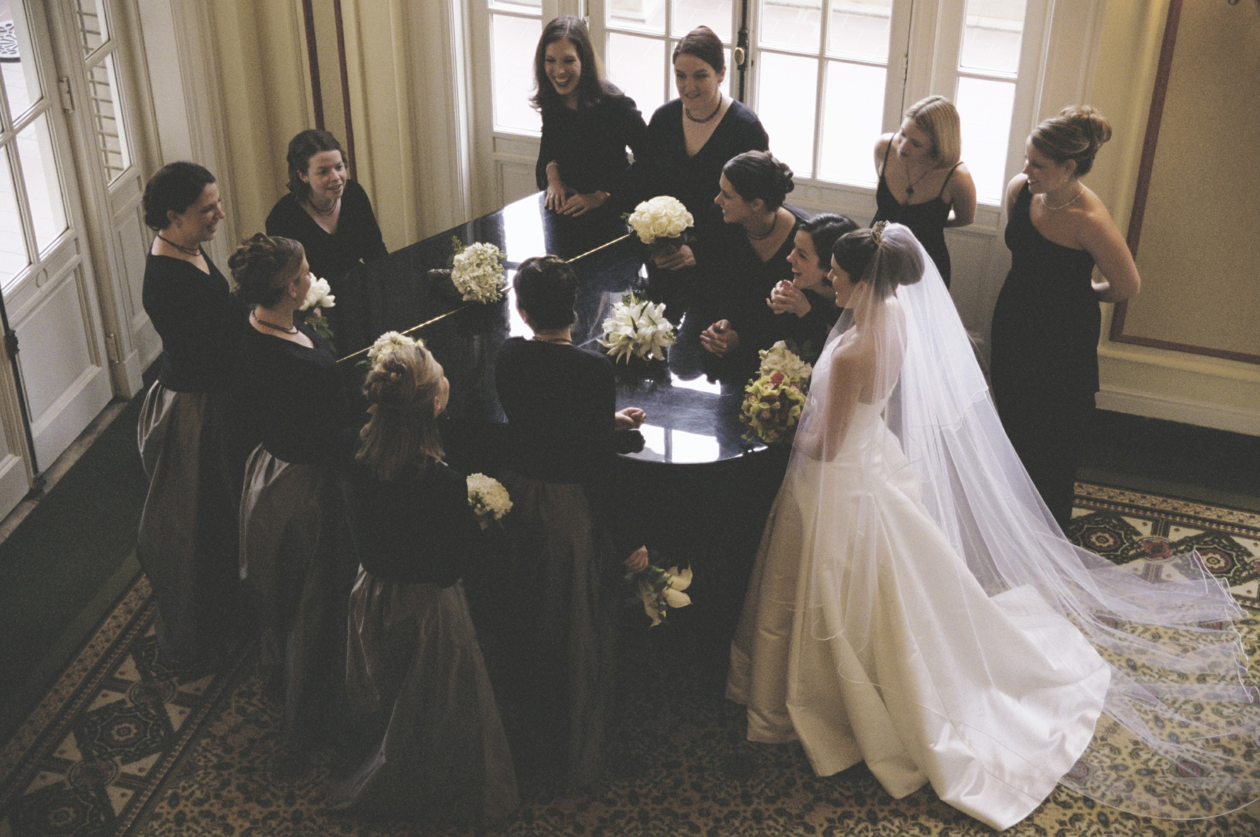 Not to be outdone by the groomsmen, the bridesmaids had the opportunity to reenact the opening sequence to Designing Women.