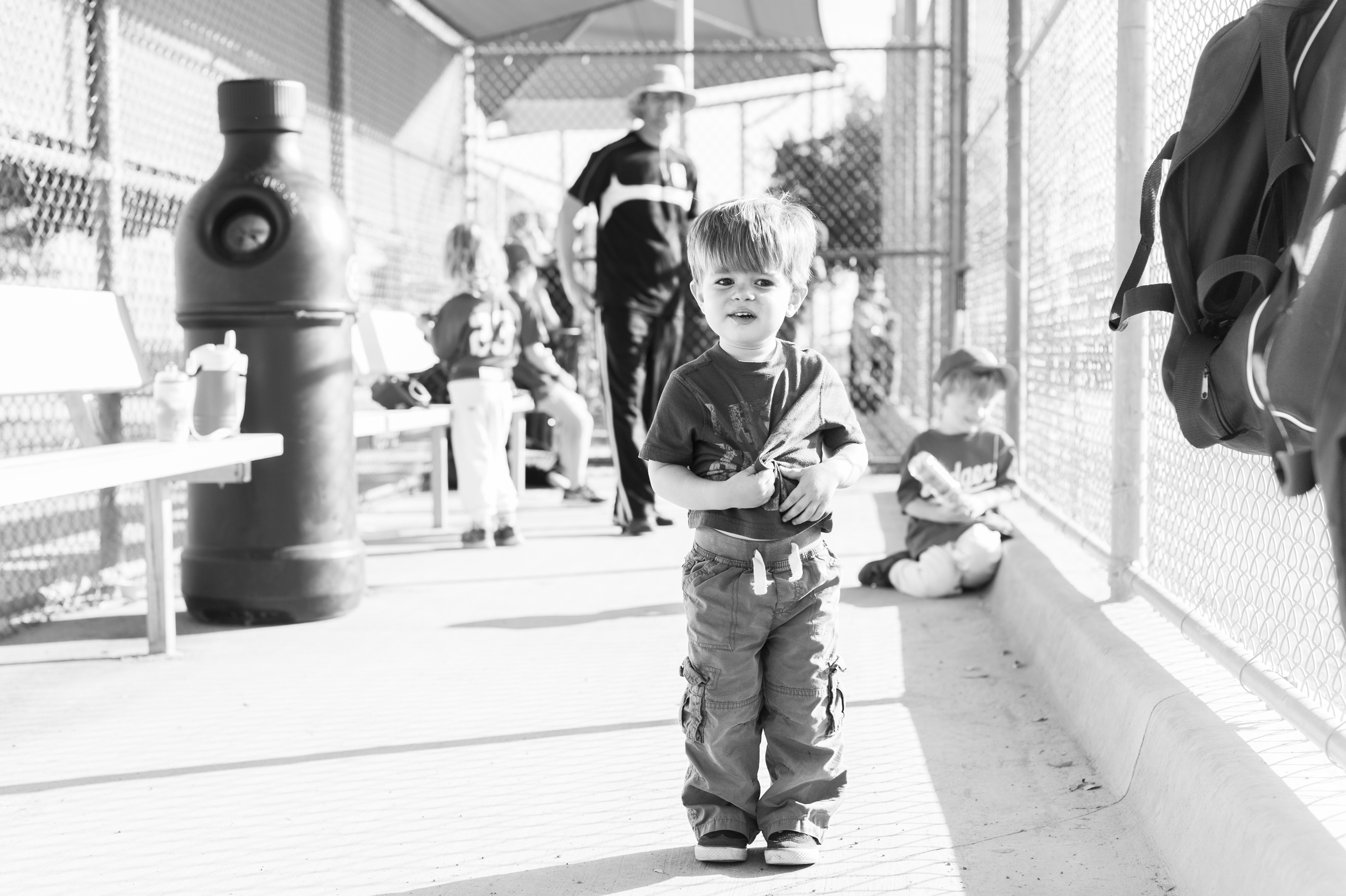 """Another baseball season has started and Henry is still wondering why he can't hang in the dugout with the big boys during the game. """"Uh-uh. No, mama."""" he said to me."""