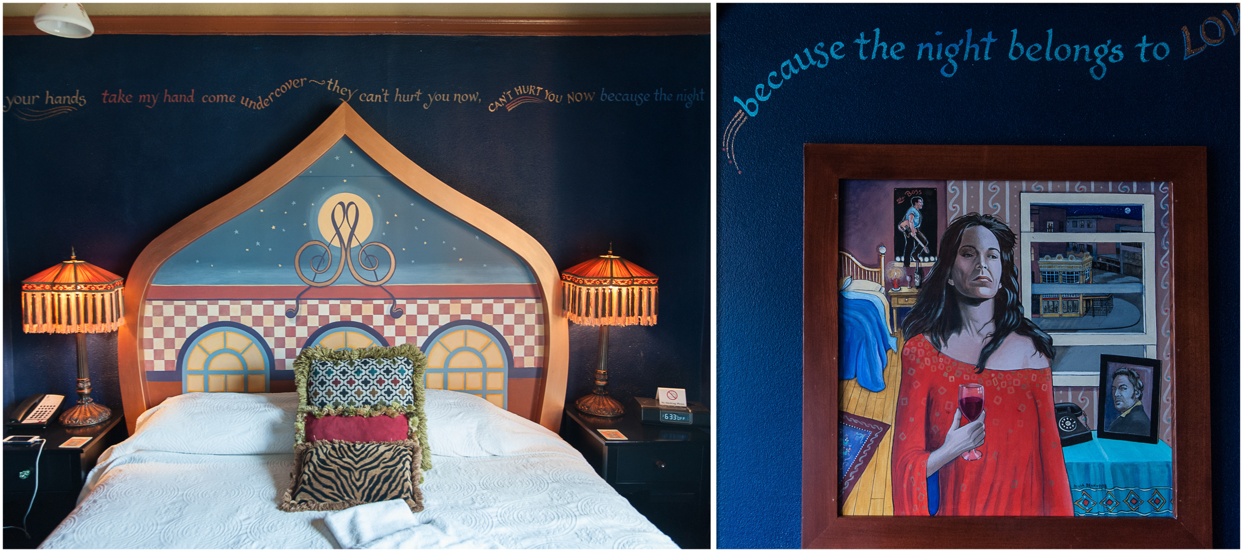 Each room is dedicated to a musical artist or band...we lucked out with Patti Smith's room.