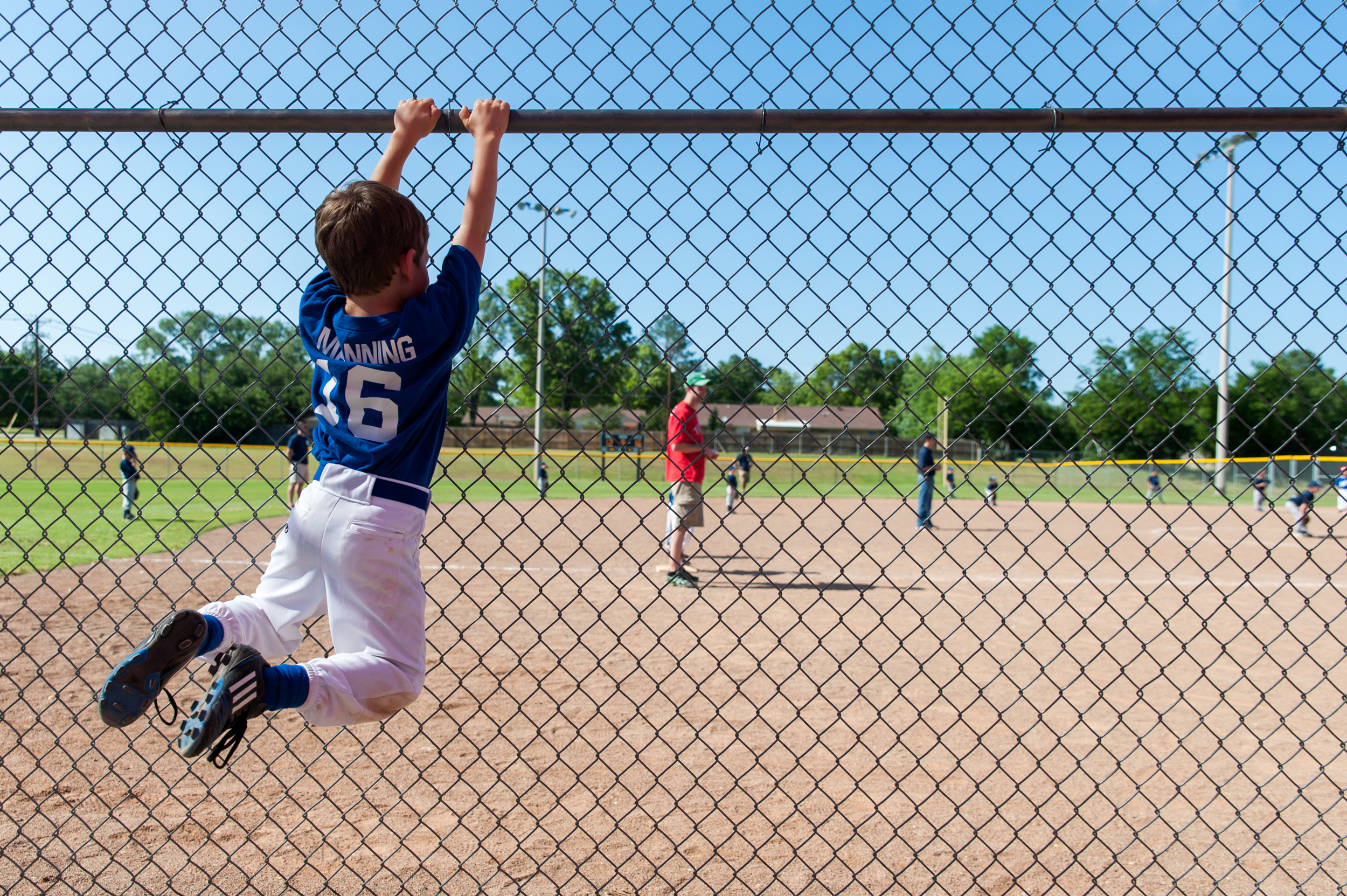 Later that afternoon was Michael's season ender at the ball park.