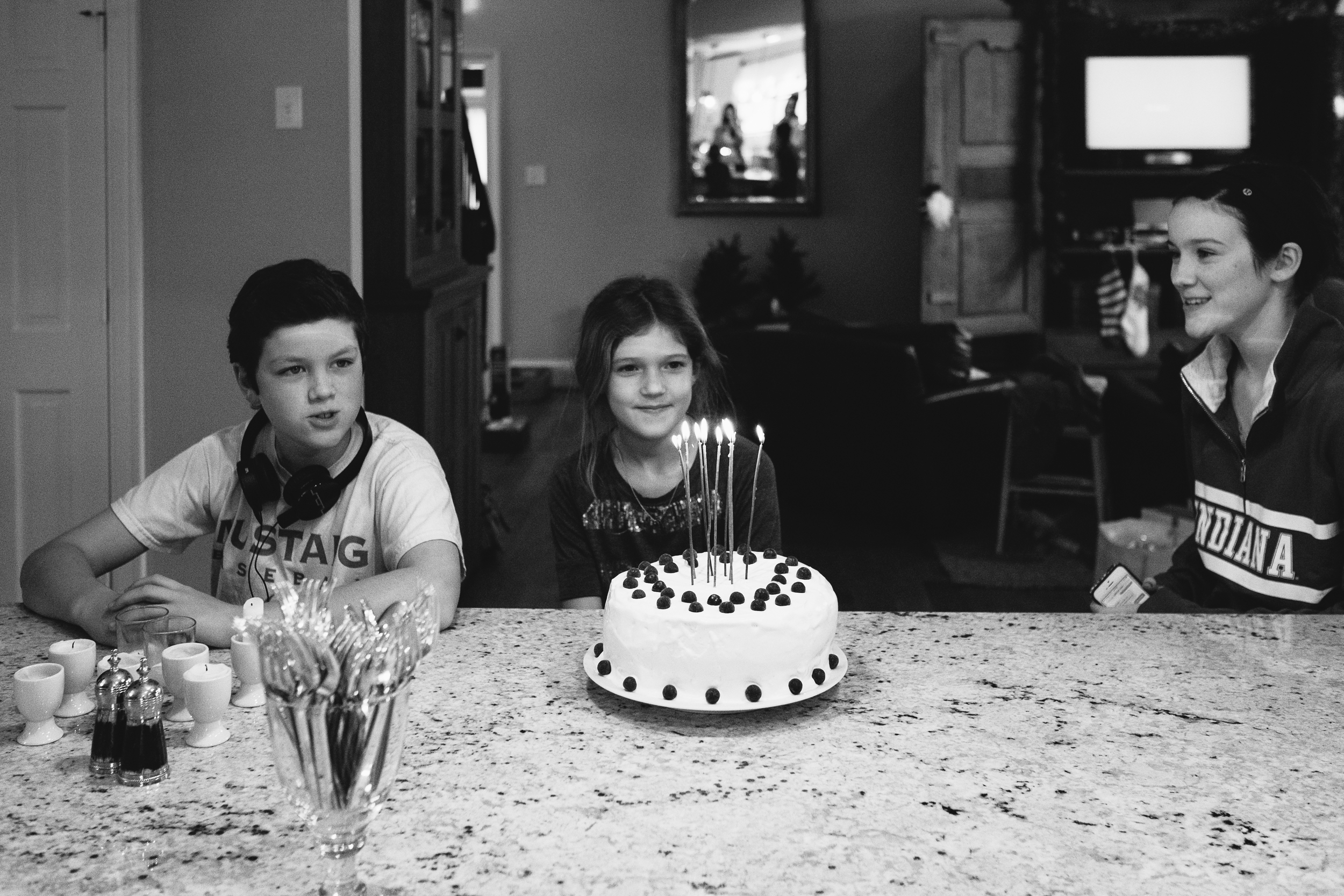 While all of the family was gathered Christmas Day, Ella snuck in Birthday Celebration No. 2!