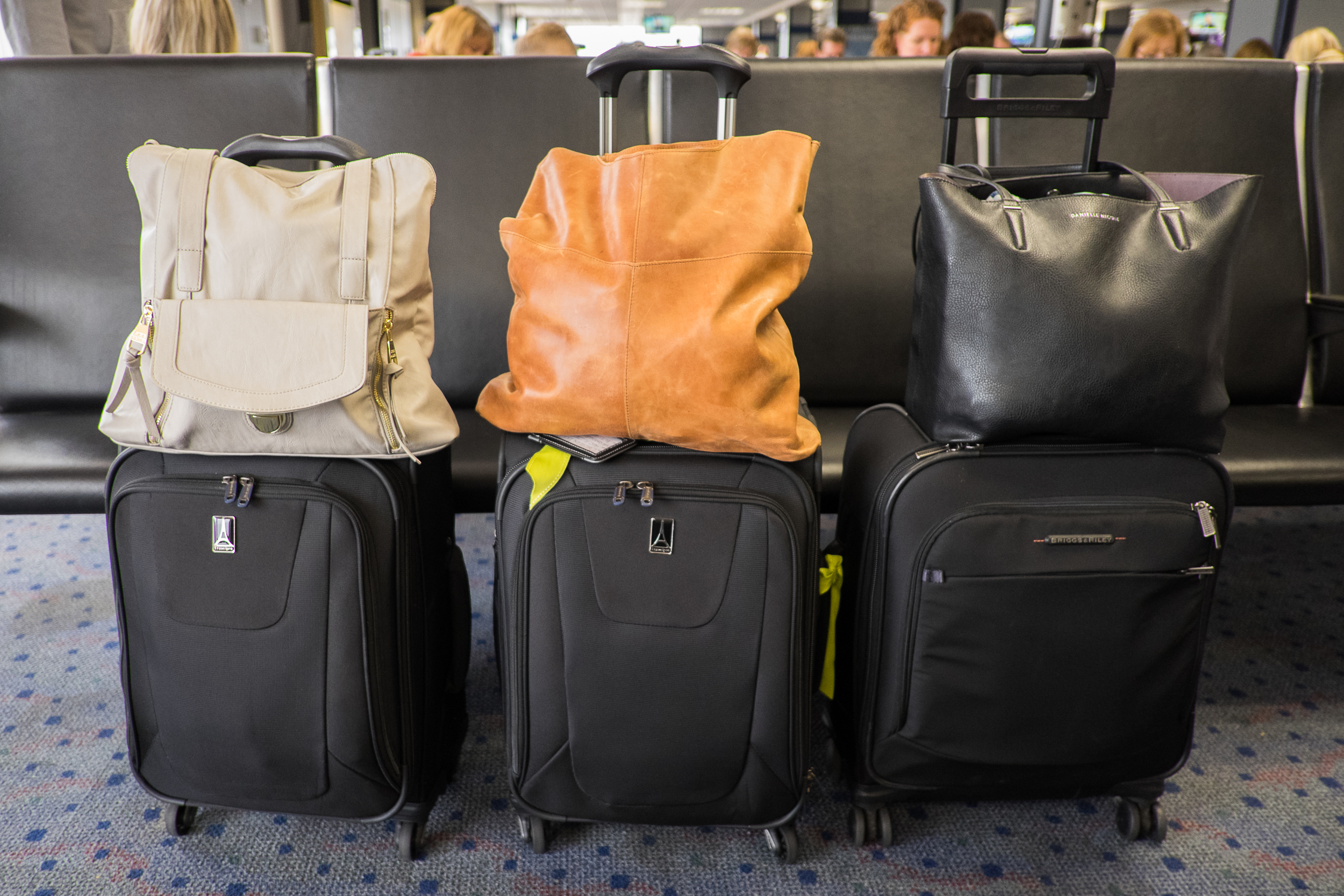 The subject of much conversation...could three women really pack for a 10-day trip with just two carry-on bags each?