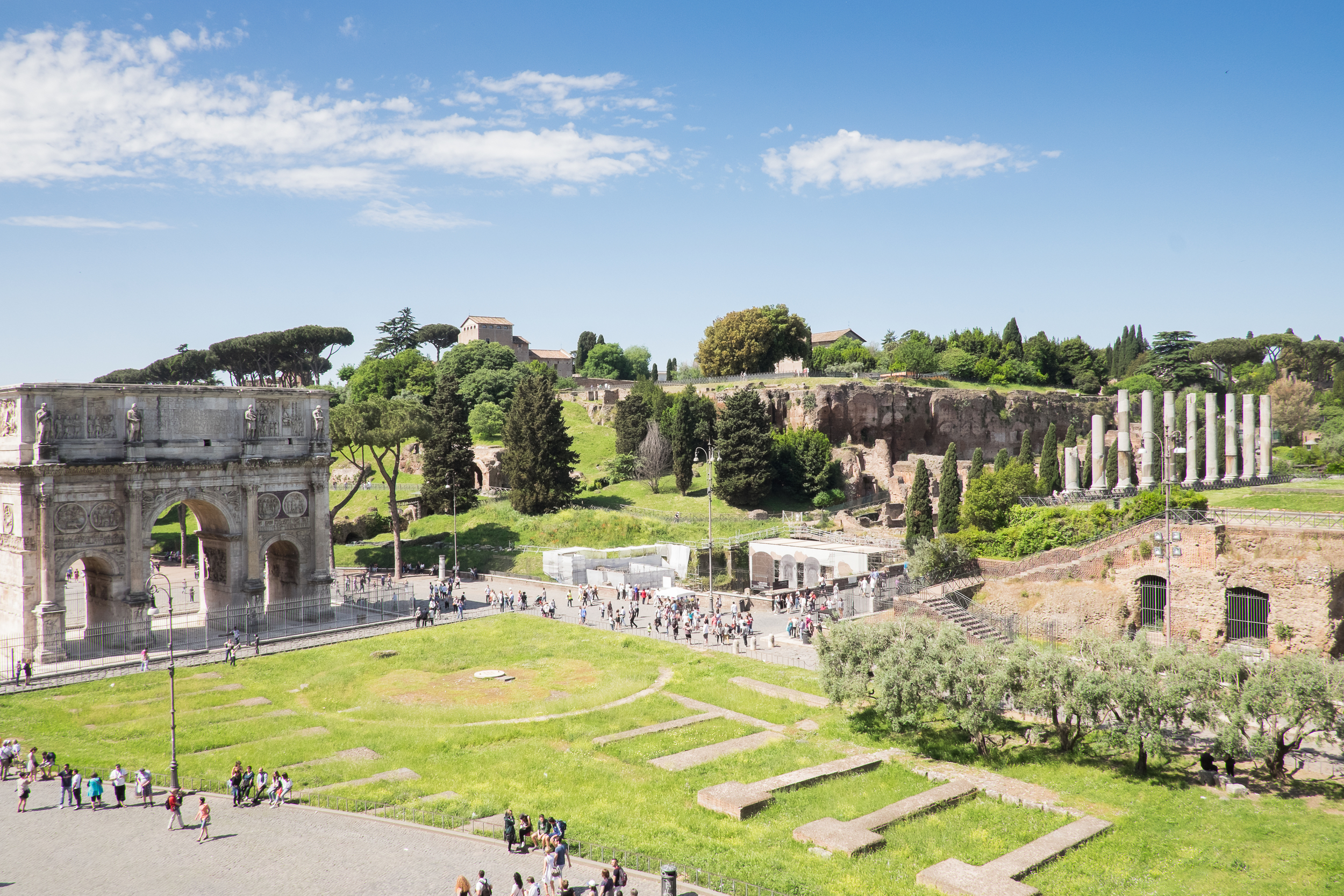 Arch of Titus and Temple Ruins