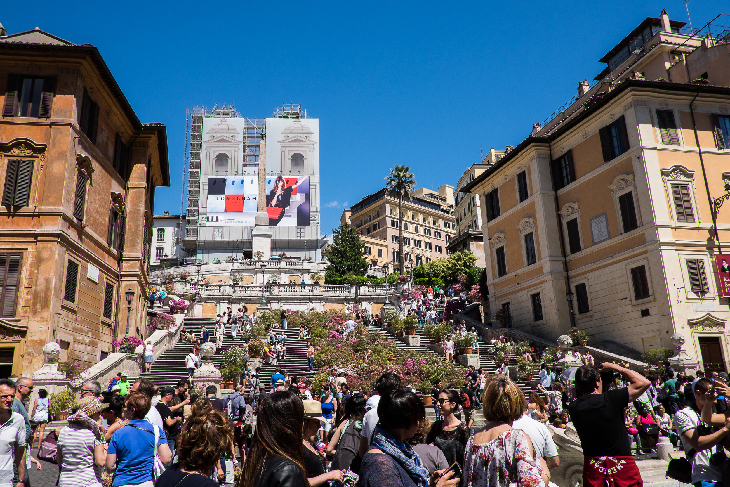 Piazza di Spagna, the Spanish Steps, with one or two of our friends.