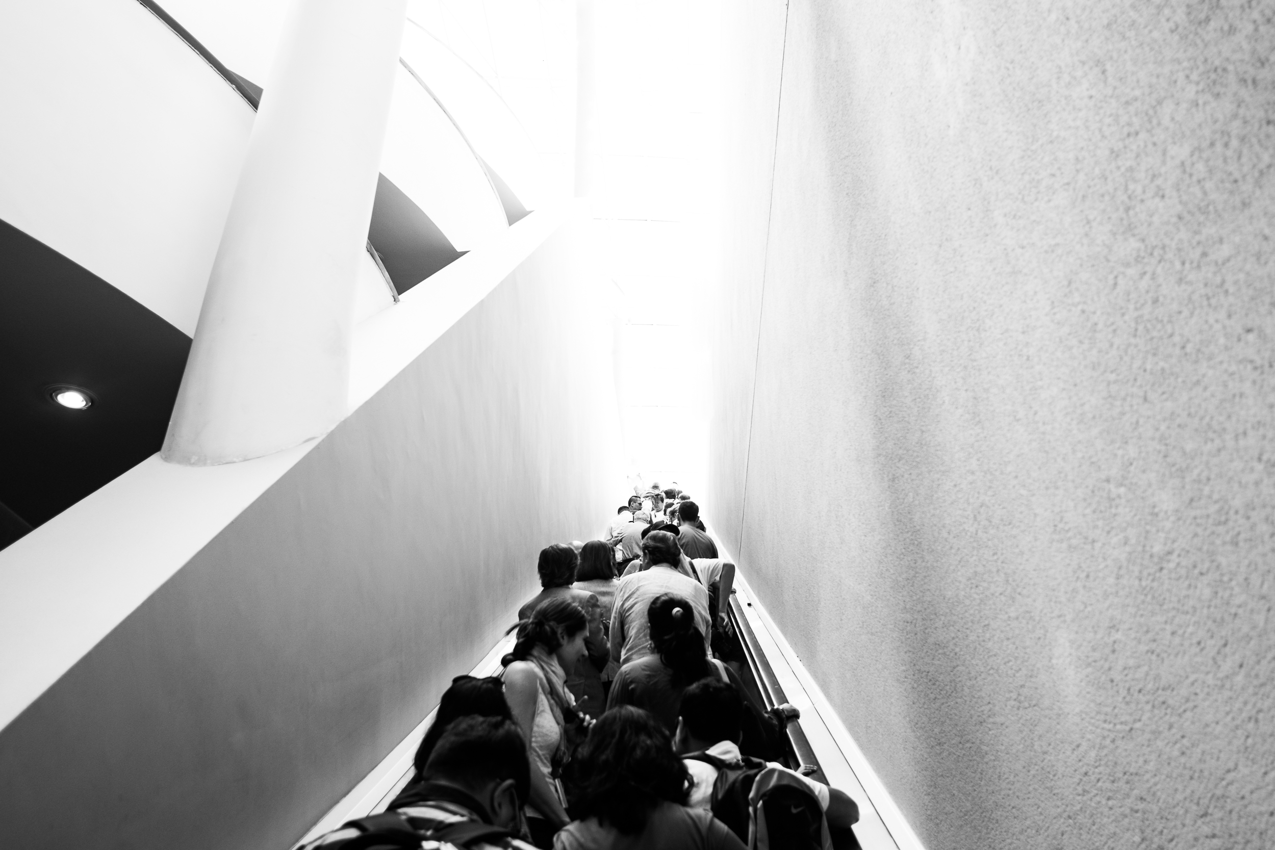 A sea of humanity flowed with us entering the museum.