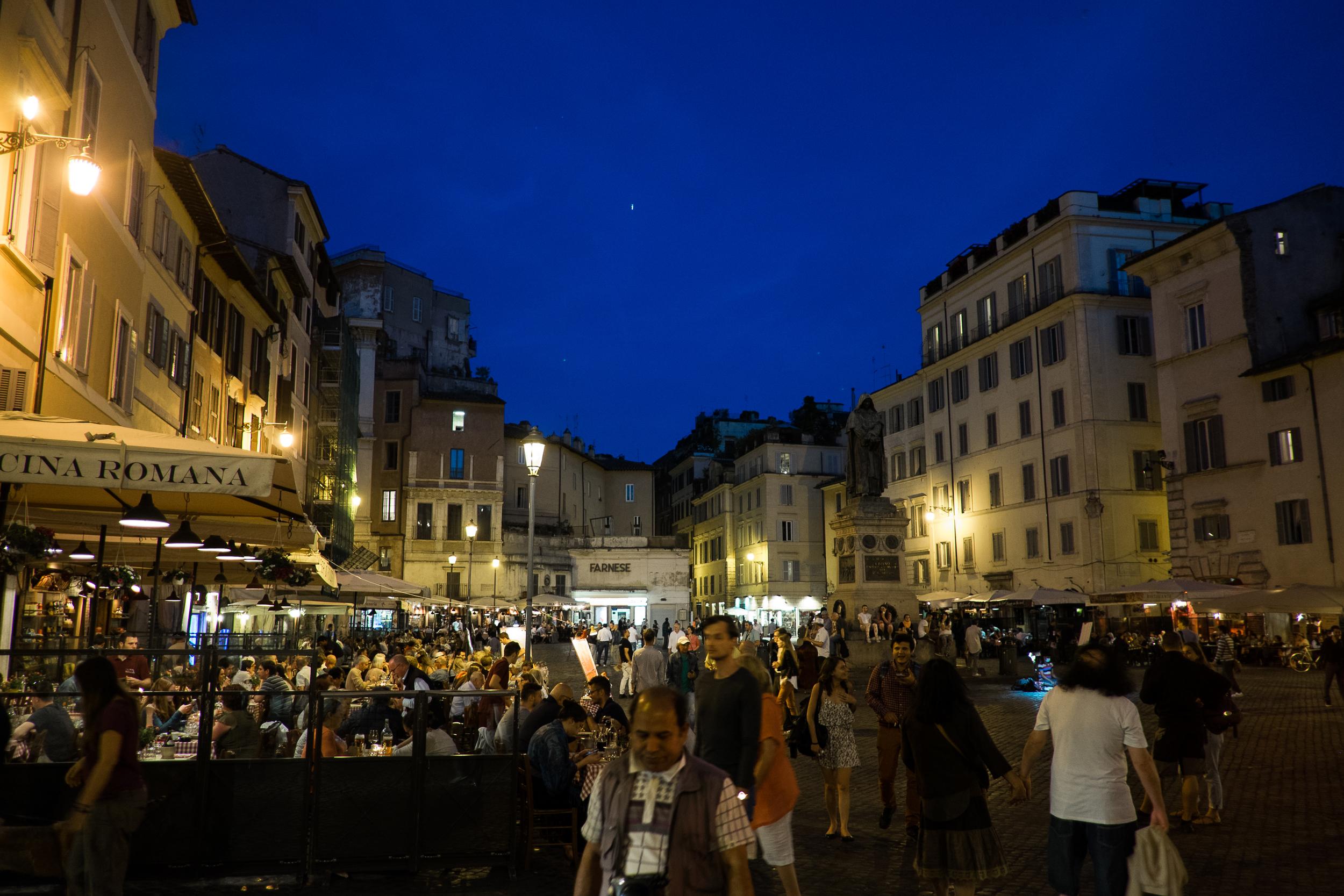 Campo dei Fiori at Night