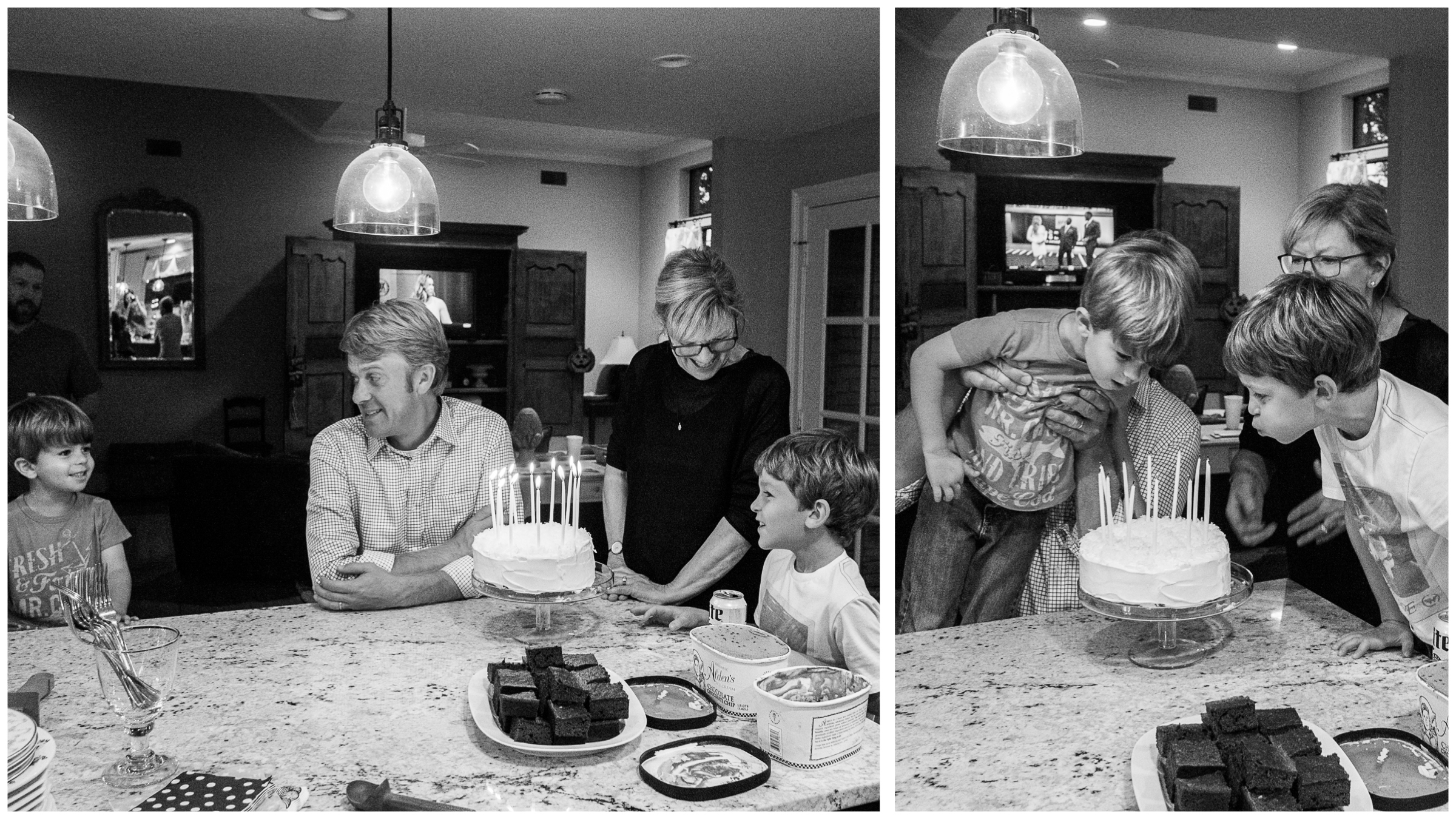 A few nights later, we celebrated both Wes' and Nana's special days.