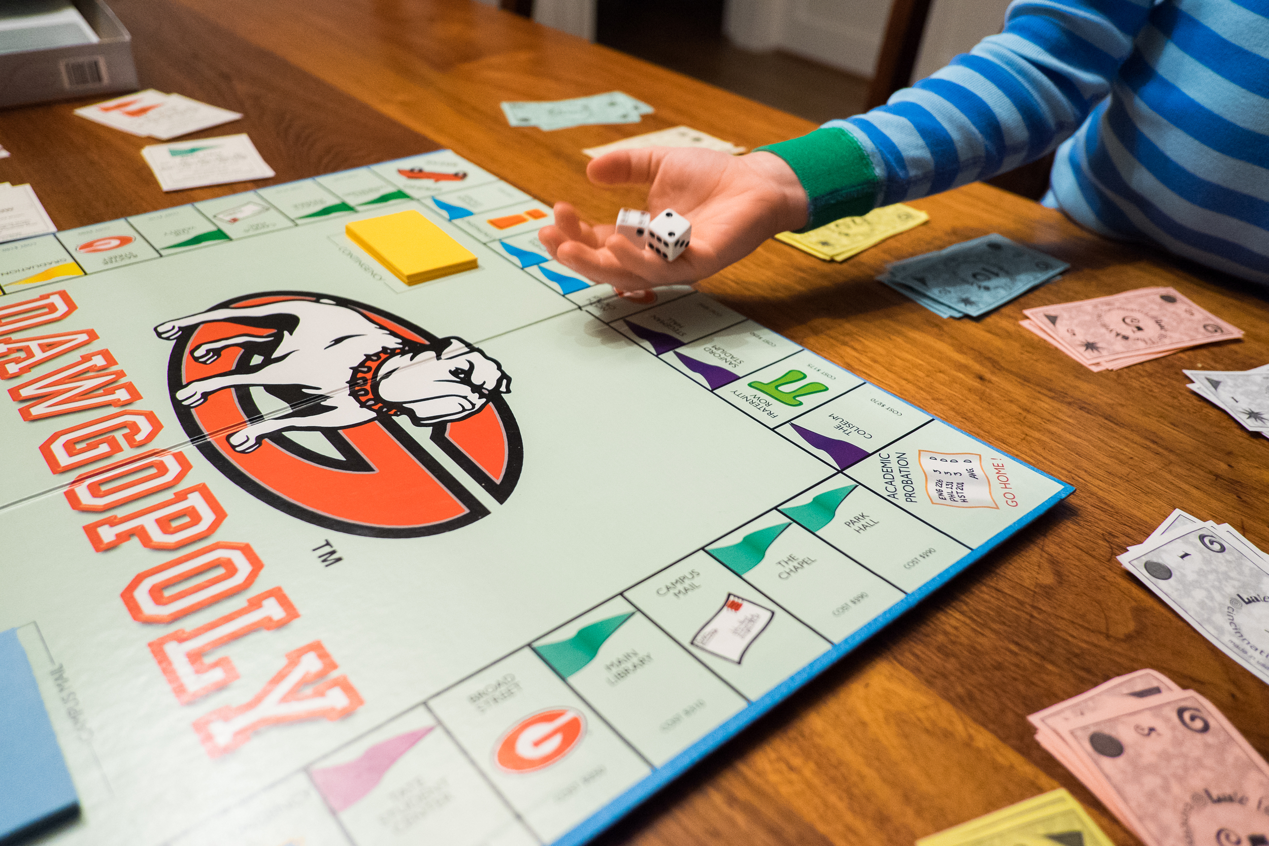 Family Game Night (Georgia-themed, of course.)