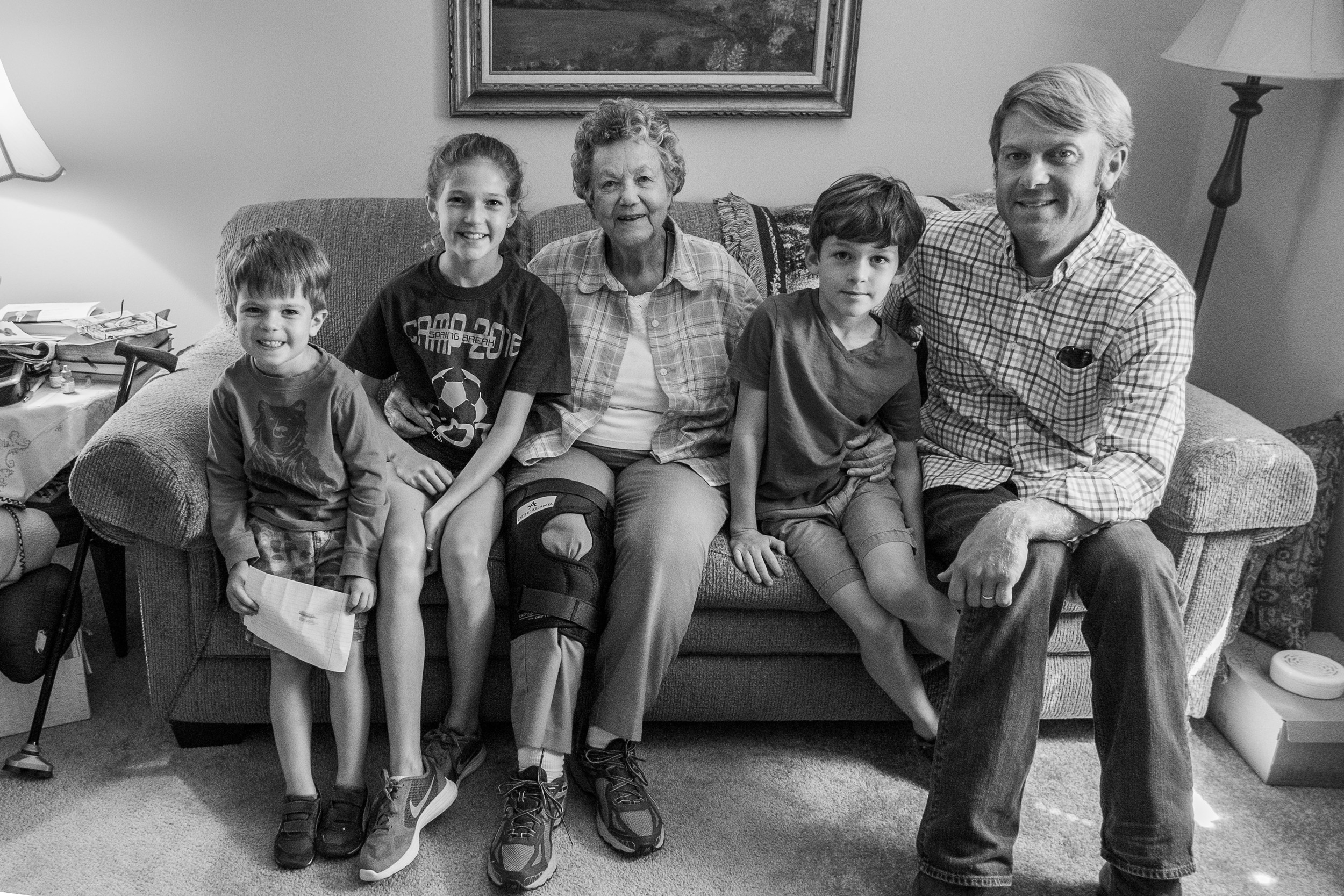 Grandmother Martz was kind enough to put up with the boys running around her apartment, throwing paper airplanes and treating her rocking recliner like an amusement park ride while we visited. God bless her.