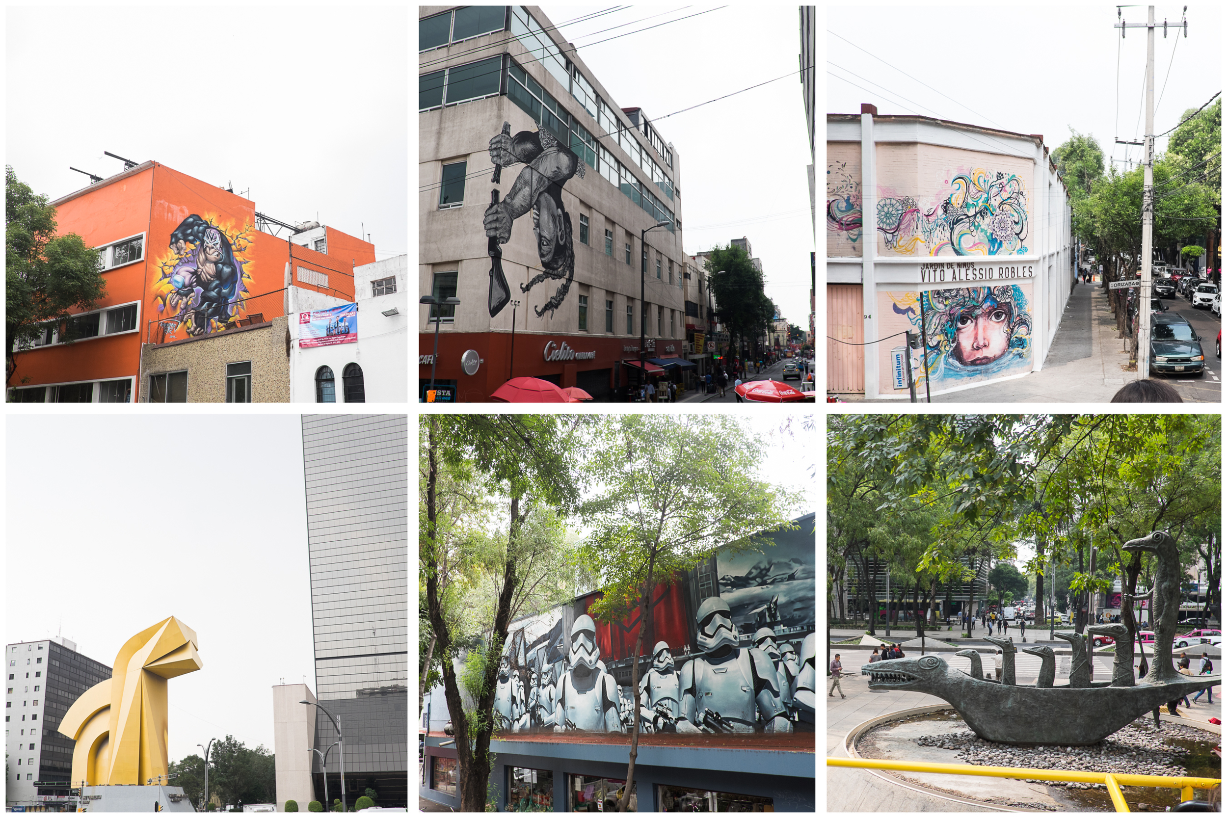 Everywhere throughout the city, we found incredible street art installations, murals and inventive graffiti.