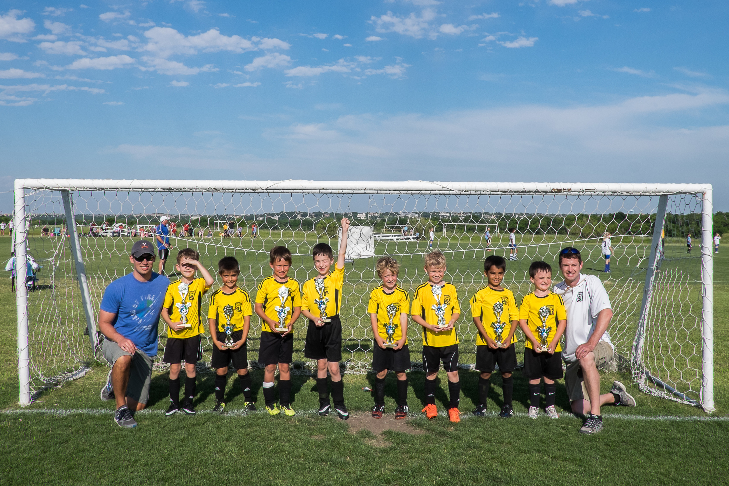 The Mighty Minions finished their season strong and competed in a tournament packed with academy teams. They didn't win, but they kept all of those teams running hard. We're very proud of this group of boys!