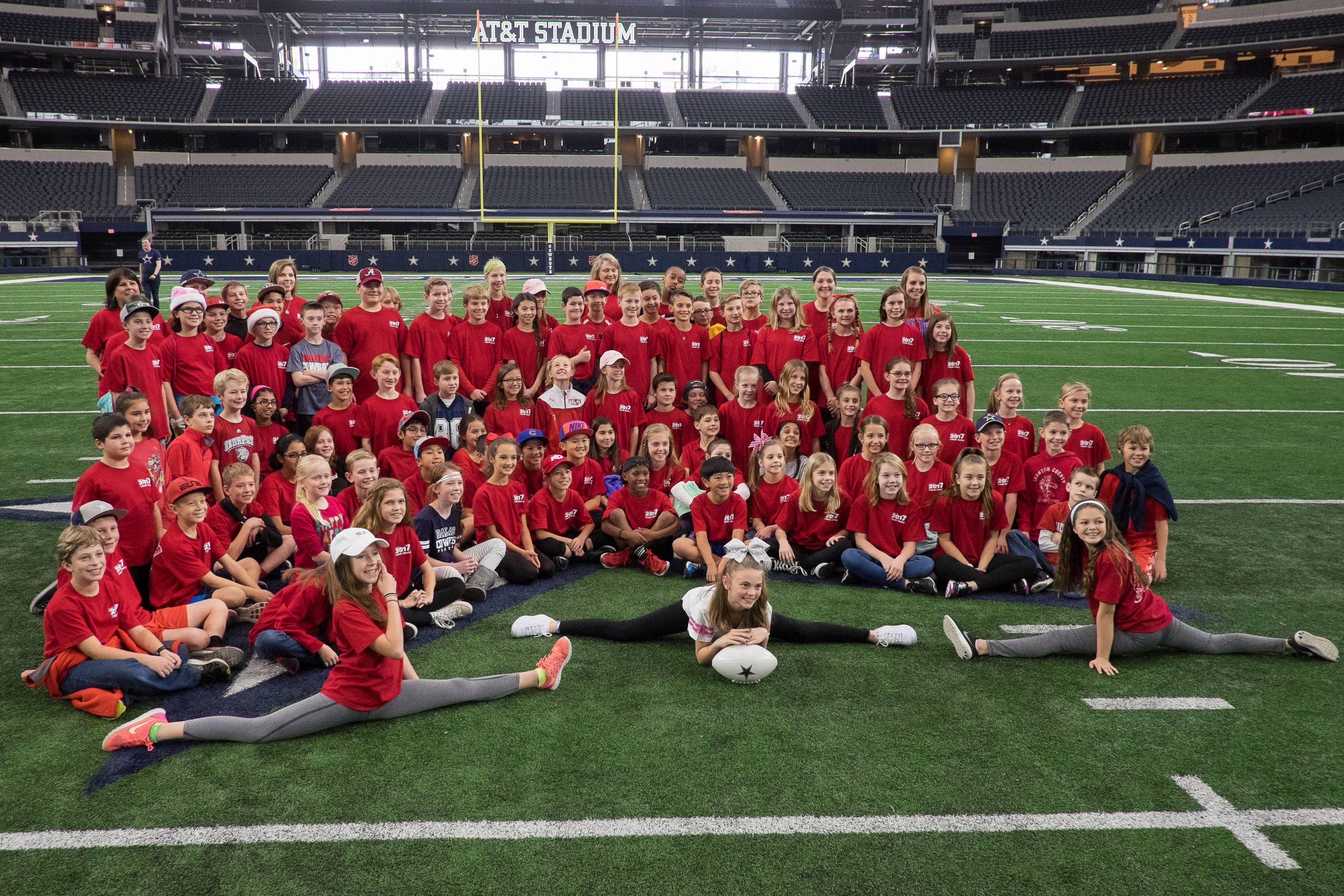 Ella's class had their annual field trip...to Cowboys Stadium.  You read that right.   It was extremely educational.