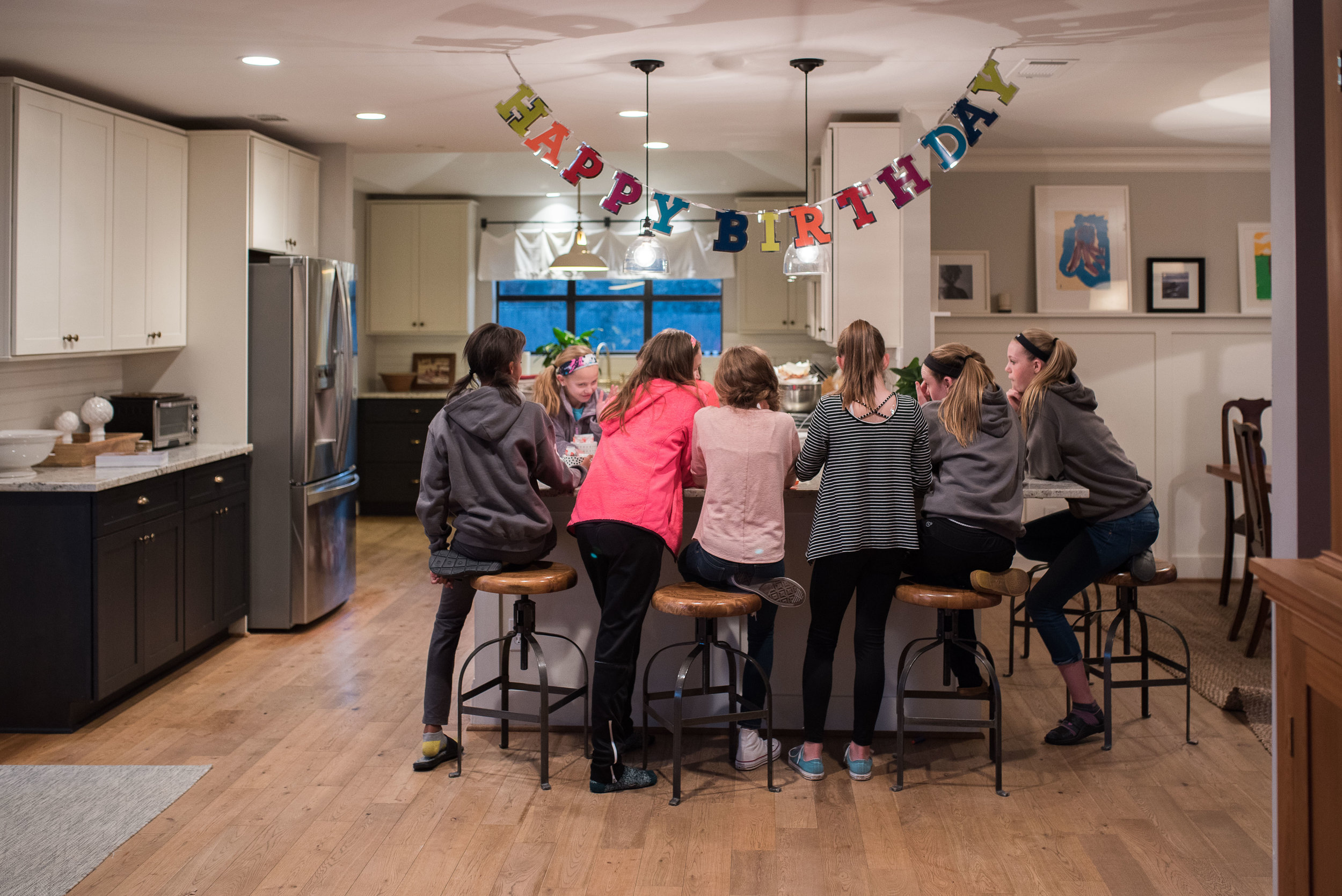 Back to home and reality, Ella celebrated her birthday with friends for a sleepover.