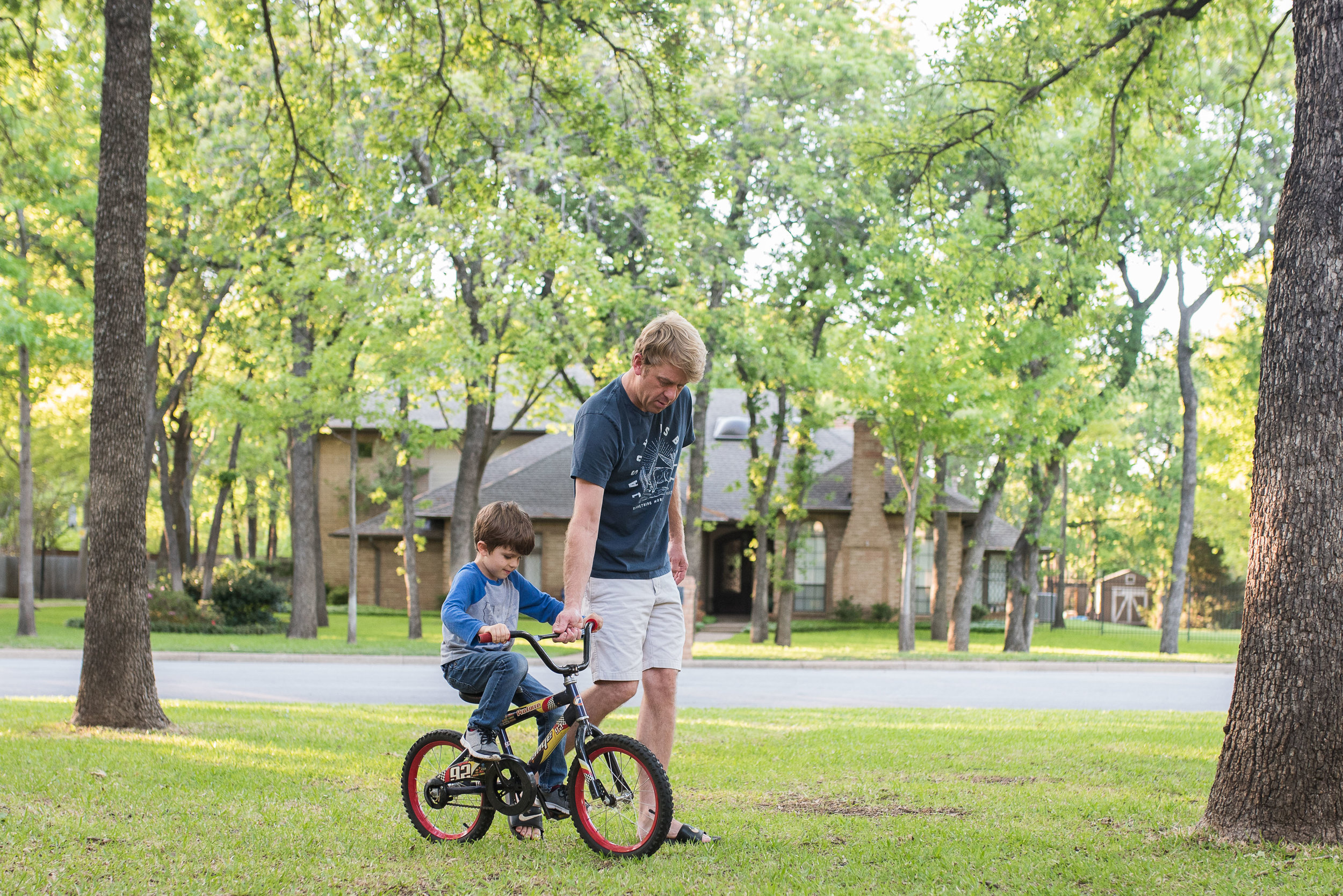 It was a quick lesson, but it's fun to see Henry finally showing some interest in learning to ride a bike.