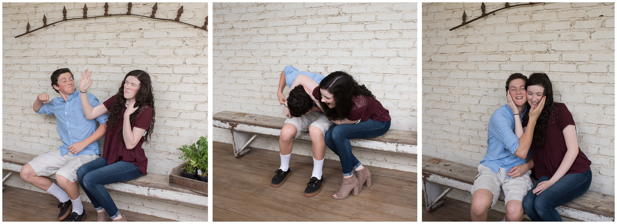 It started off a little tense, but we got a loving sibling portrait in the end.