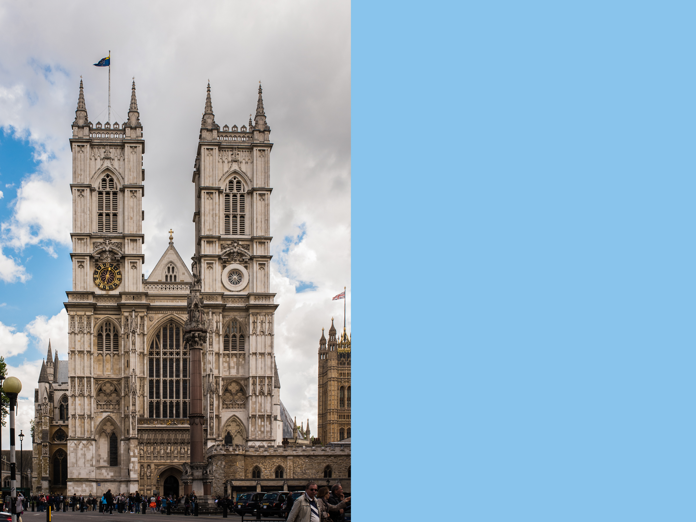 First official stop:  Westminster Abbey