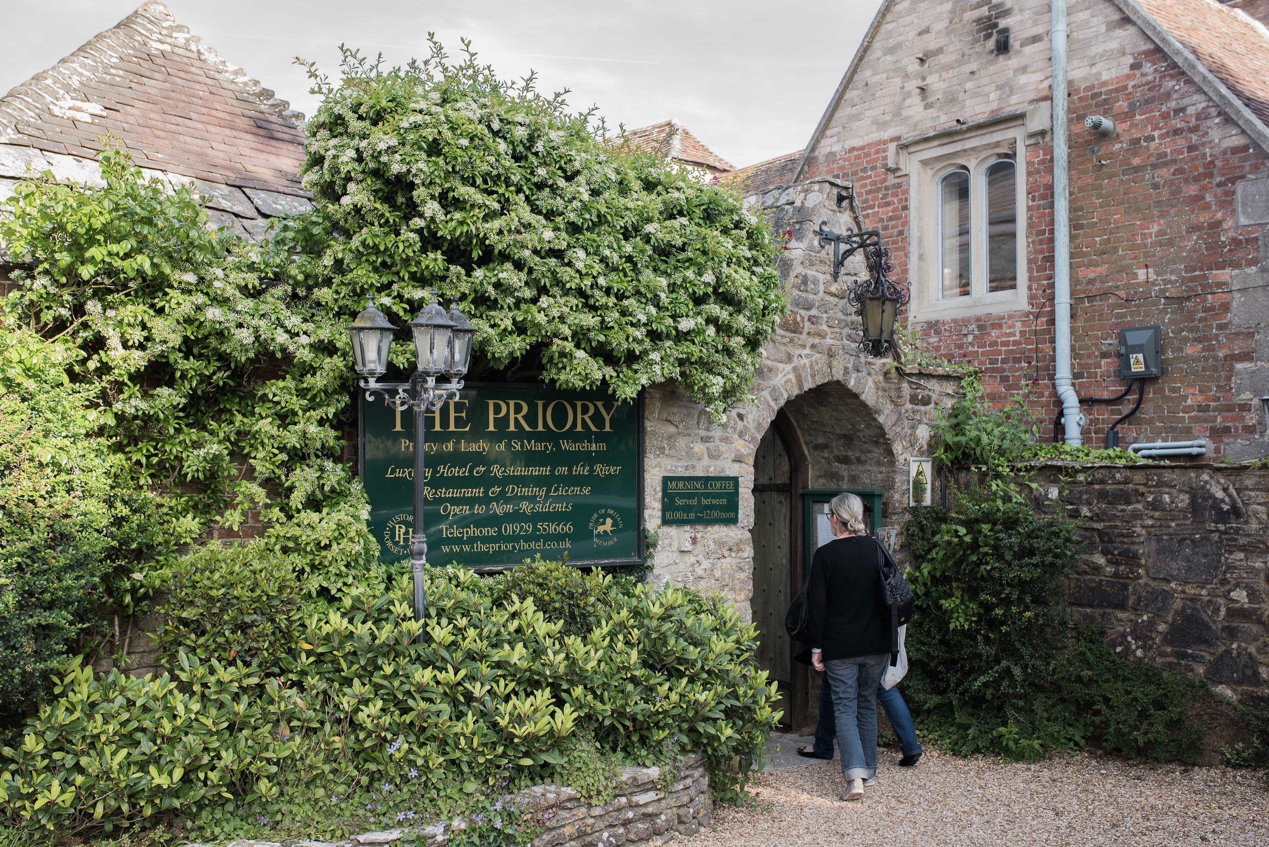 Our long day of touring came to an end as we checked into  The Priory Hotel  in Wareham, England.