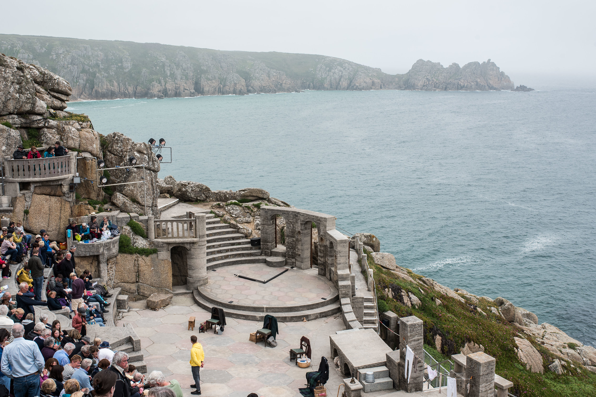 On what was our only drizzly day of our trip, we saw  Under the Milk Wood  in this gorgeous outdoor theater. To be honest, it was hard to focus on the plot rather than the scenery.