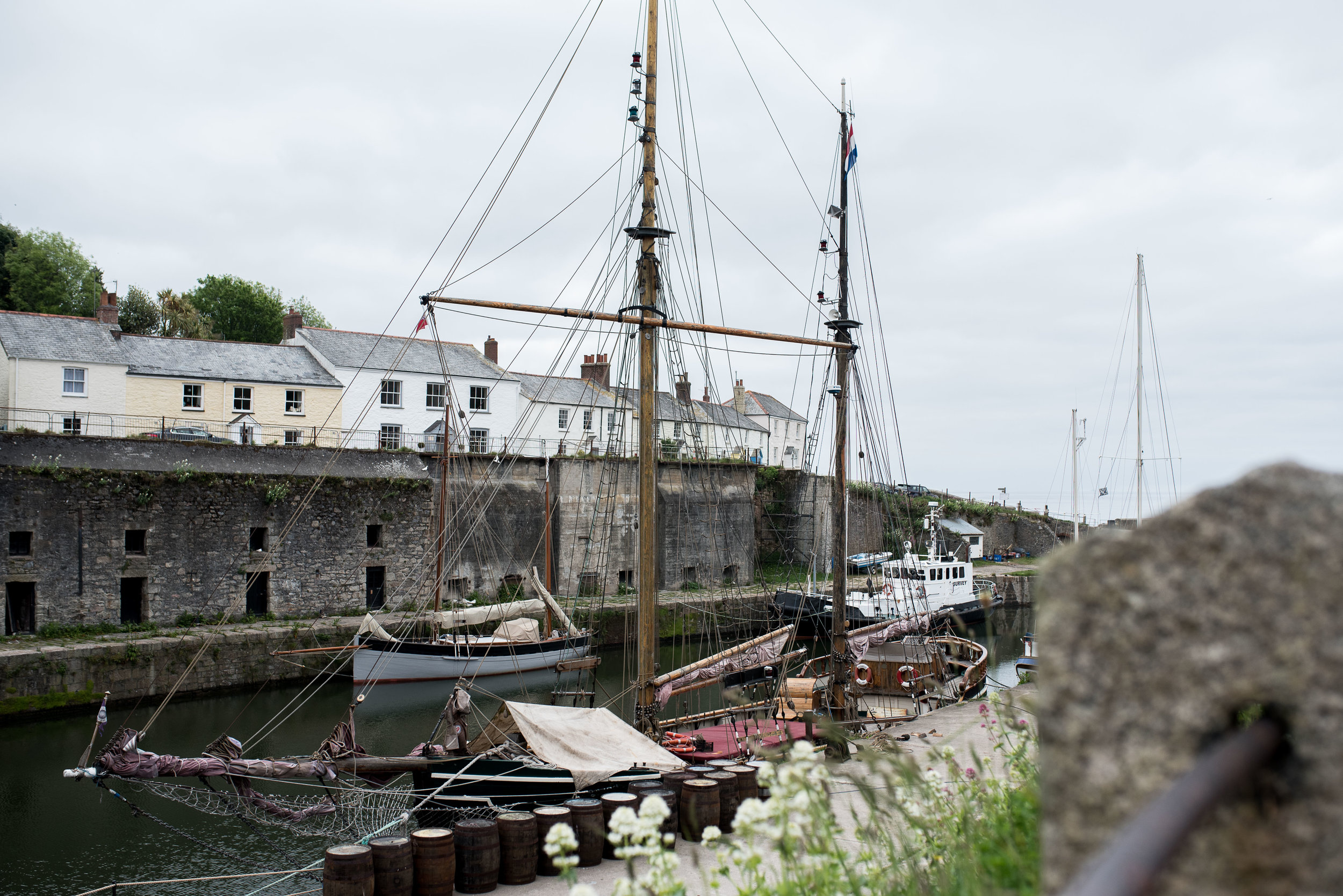 Our first stop on Day 5 was to Charlestown. I think No. 10 is supposed to represent it on the map, but it's actually one bay to the East, before you get to Fowey. Oops.  This area has also been used as a frequent filming location for  Poldark .
