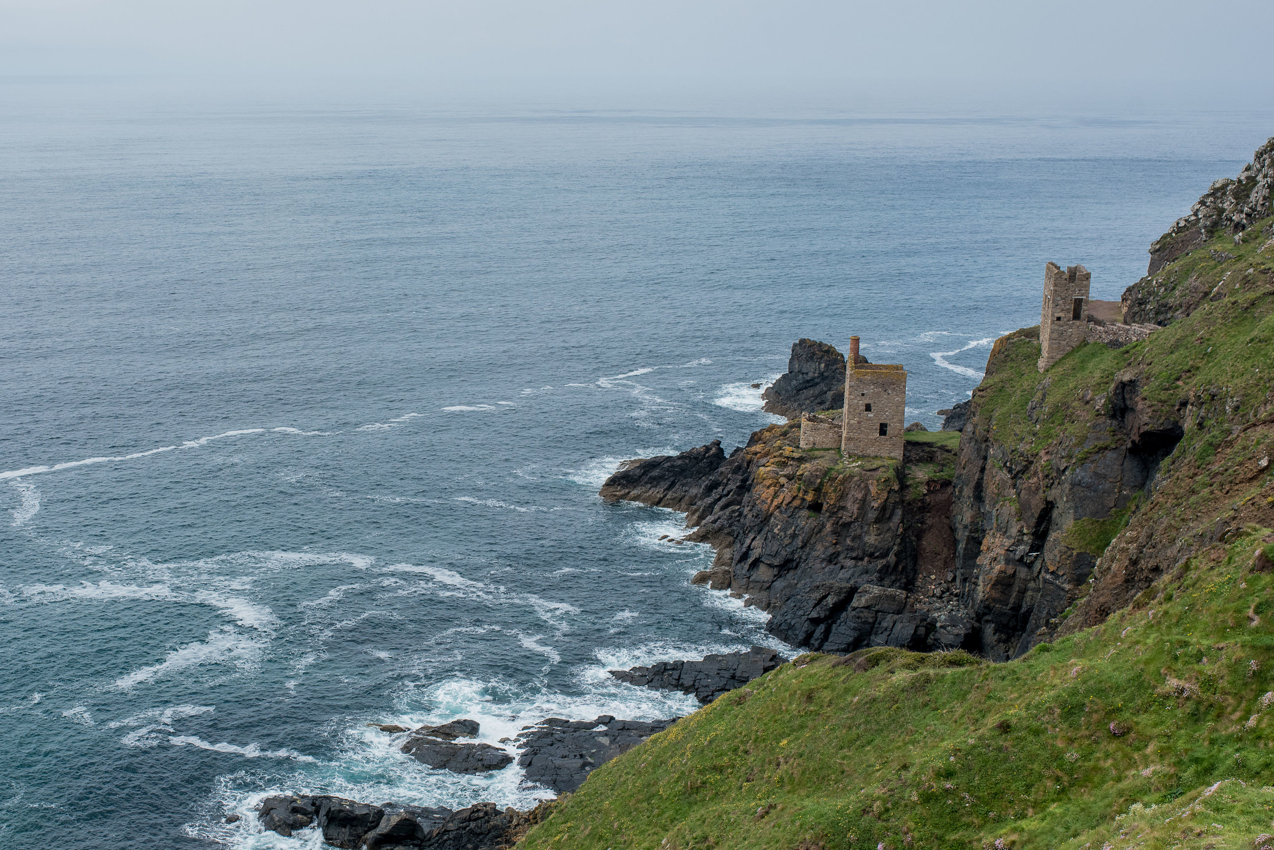 This view serves as the cover art for more than one edition of the  Poldark  books.