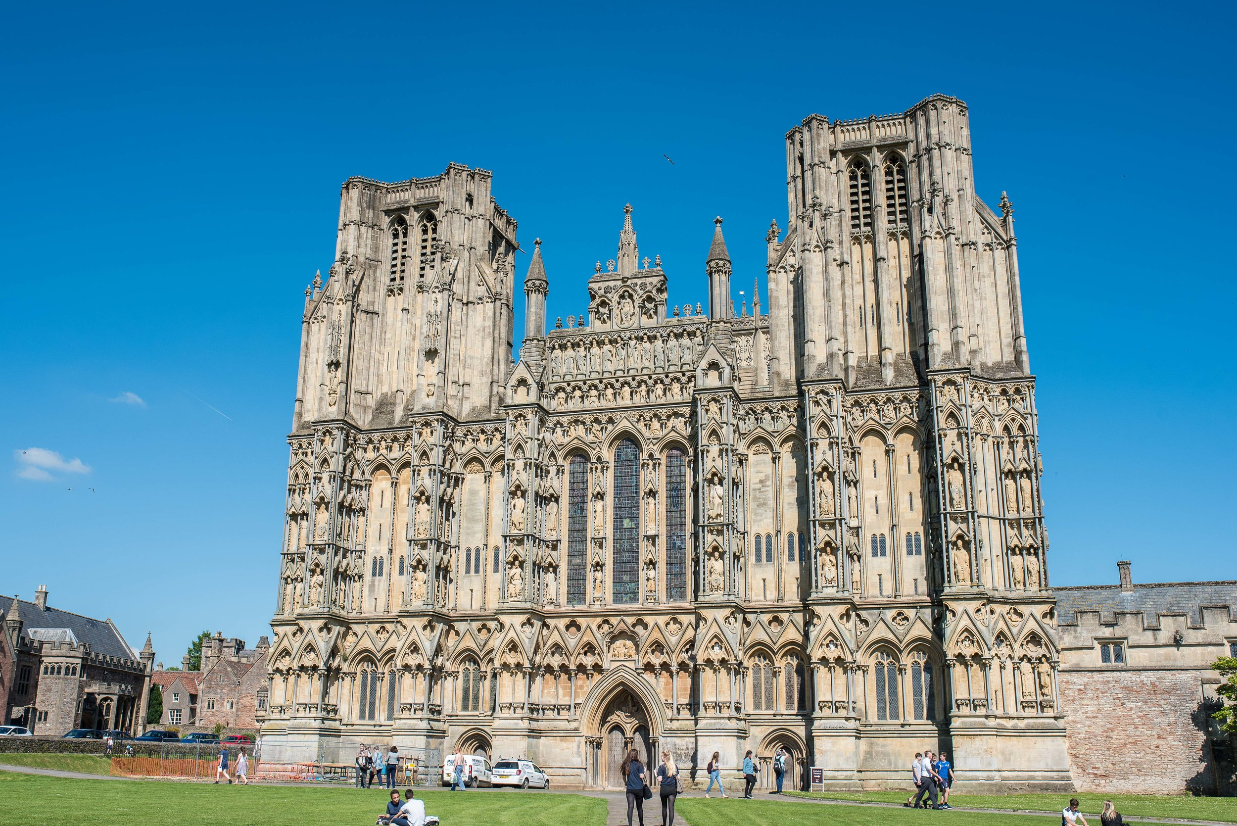 No. 13.5,  Wells Cathedral .  We sort of missed making a dot for Wells, so imagine there's a No. 13.5 just to the Southwest of Bath (No. 14.)