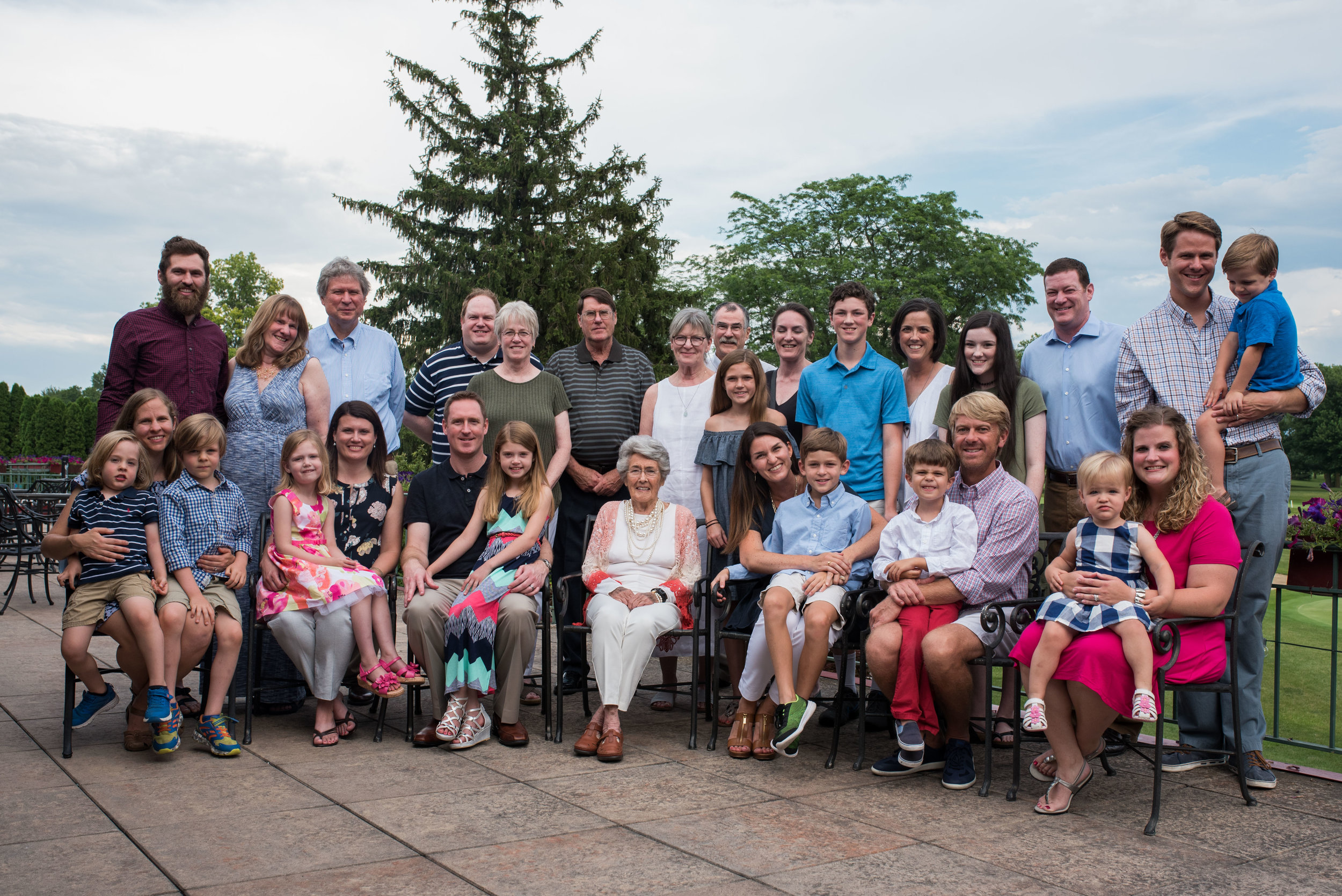 Eleven great-grand children (+ one on the way!), eight grandchildren, three children, several (very!) significant others and one amazing woman.
