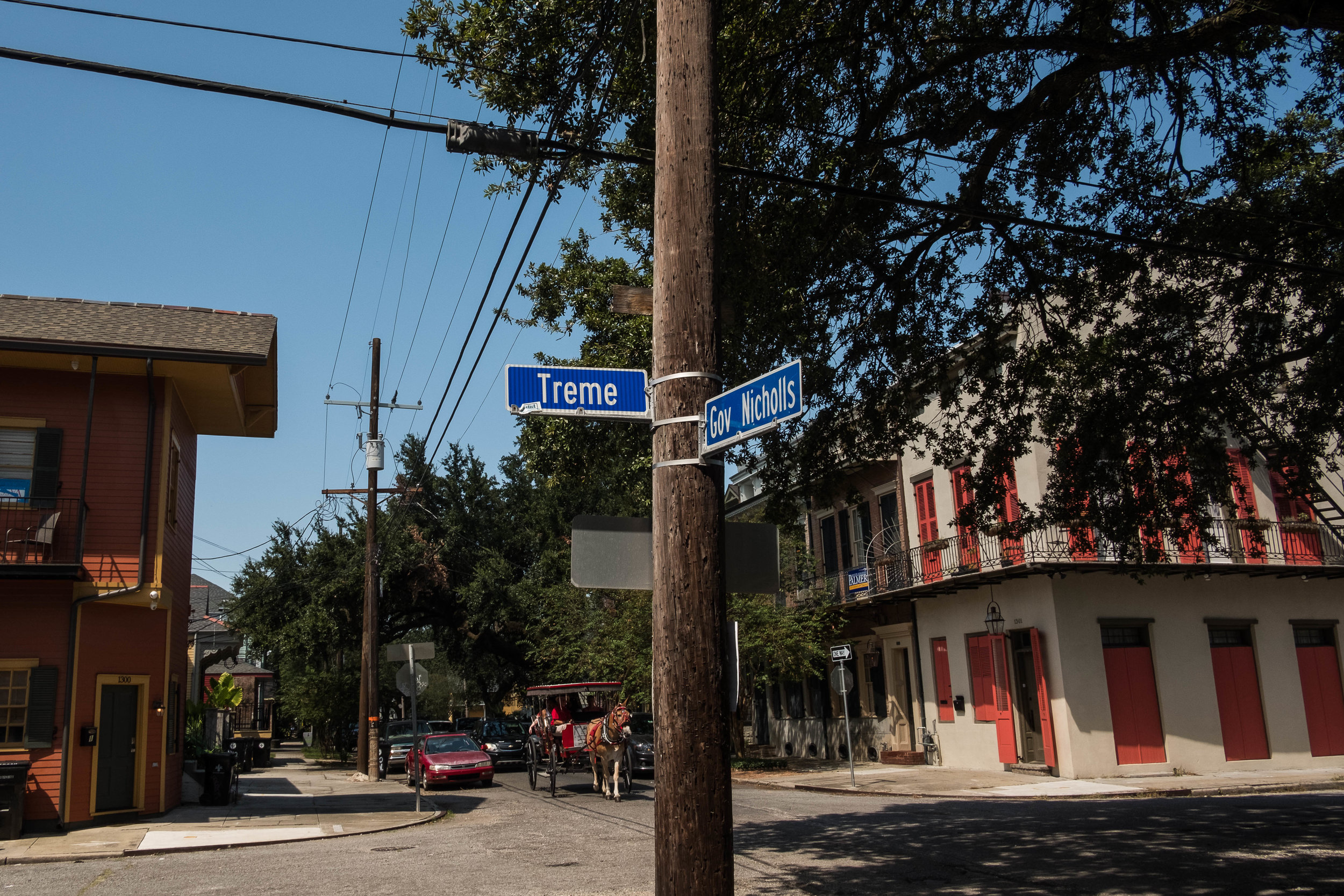 We were a day early for the Treme Fest (whoops) but we can say we stood on the street where Jazz was born.