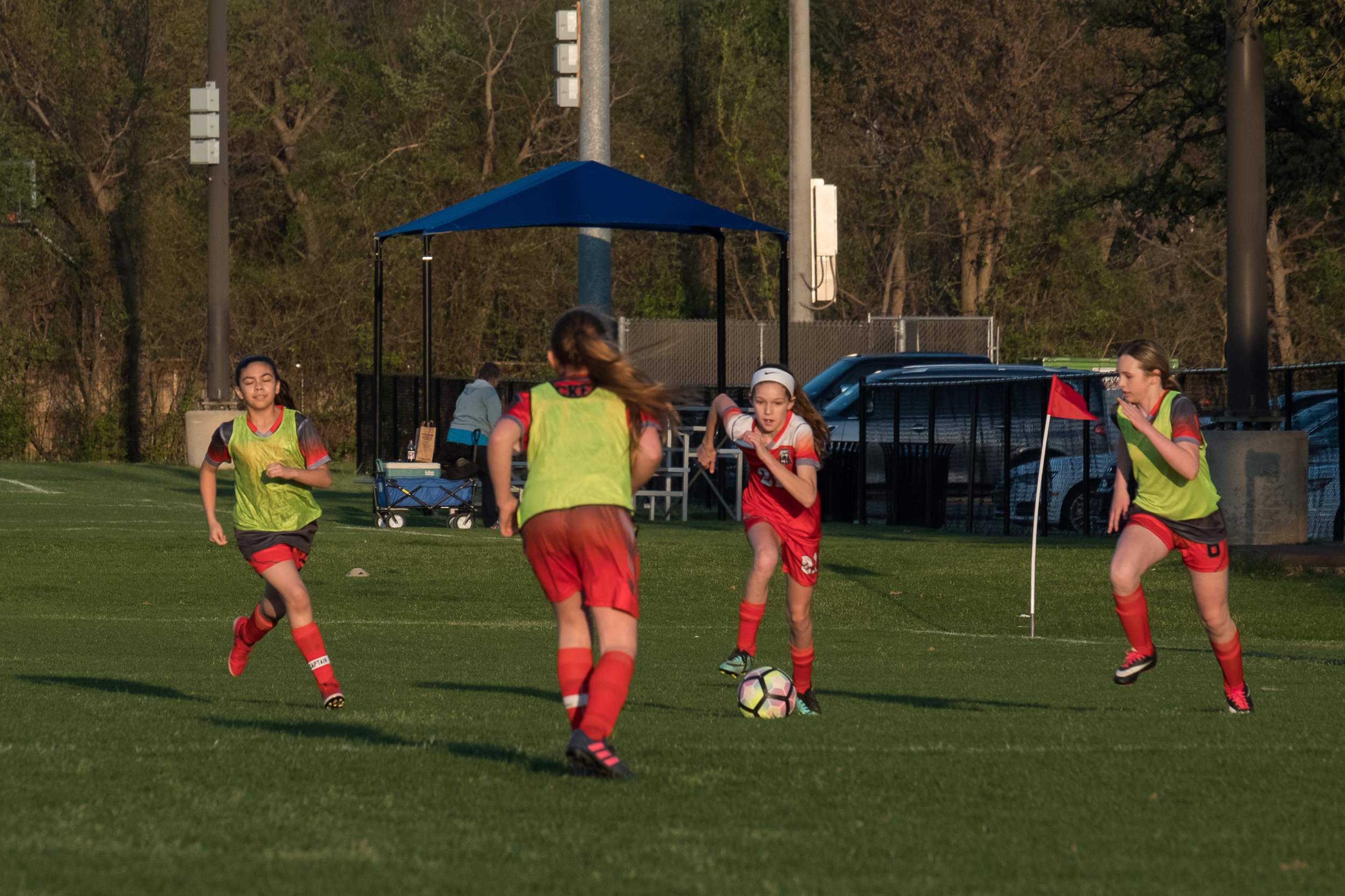 Outdoor soccer is also back in season. Go Hurricanes!
