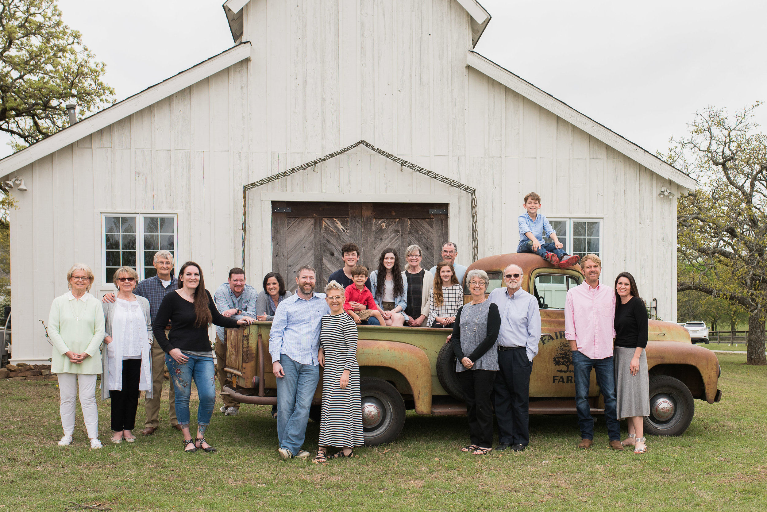 This year's Easter family photo involved one less broken toe, but the photographer still needs to work on her Self Timer skills. At least this is a patient group.