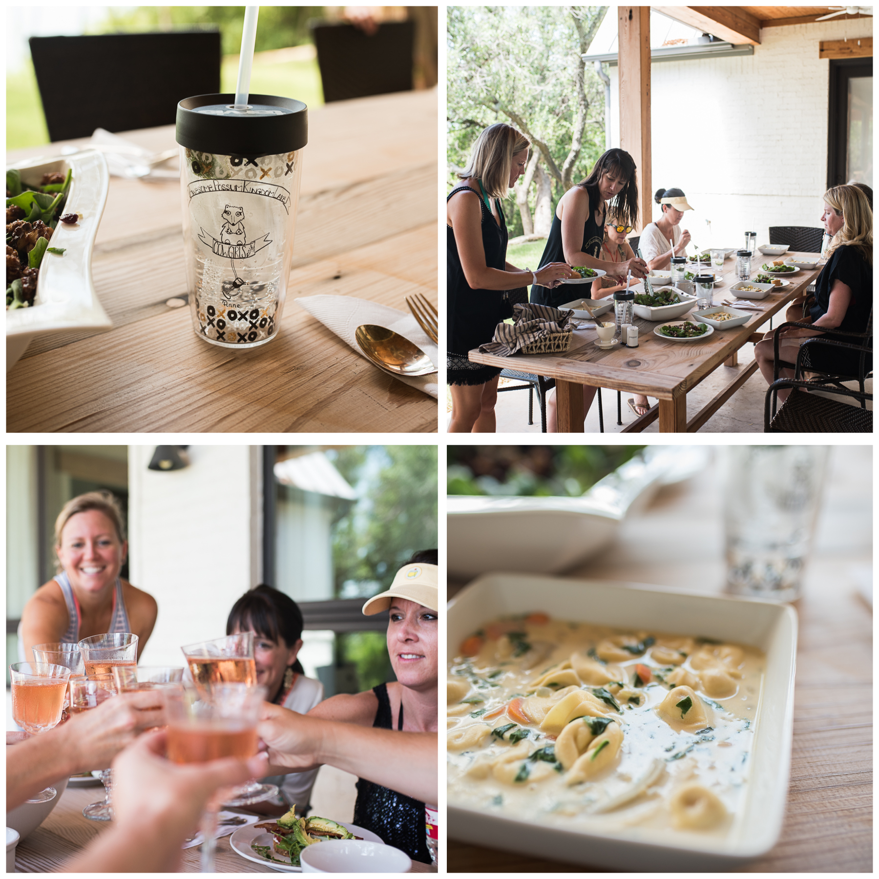 Aside from all being really awesome people, I'd also like to point out how great these ladies are when it comes to serving up a beautiful meal, paired with just the right bubbly.