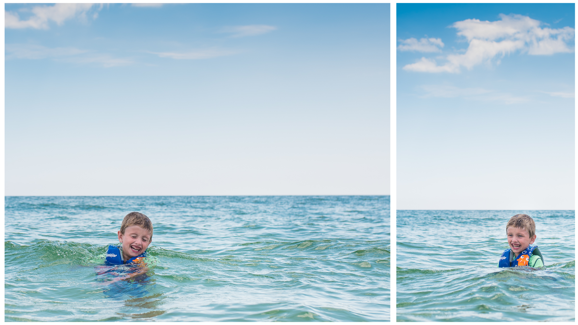The ocean is Joshua's happy place.