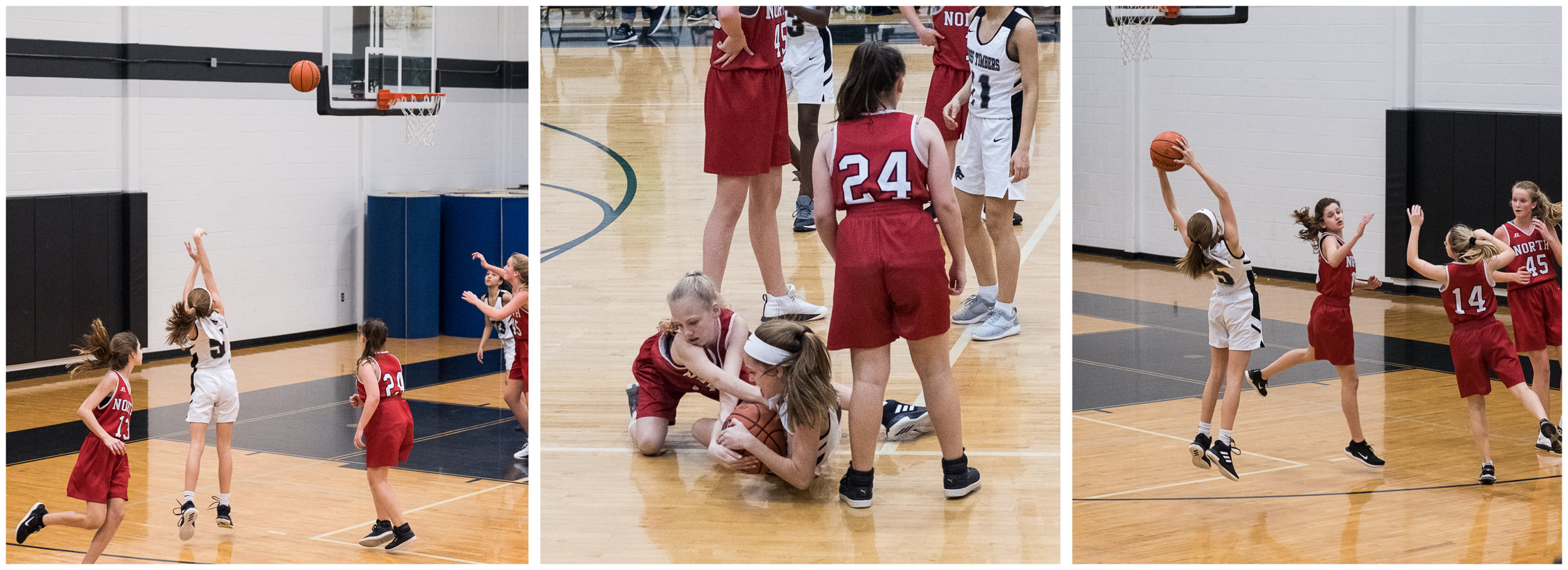 So far, Ella finished up basketball season.