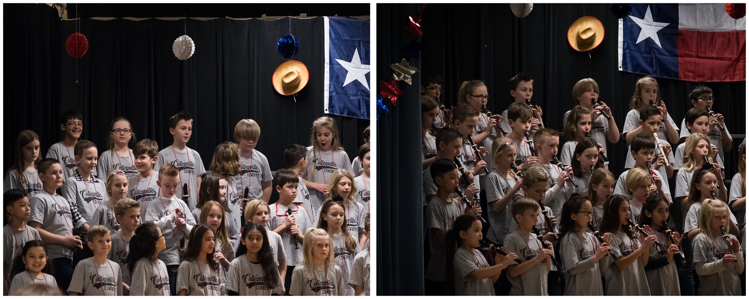 Michael fake-played his way through the 4th grade recorder concert.