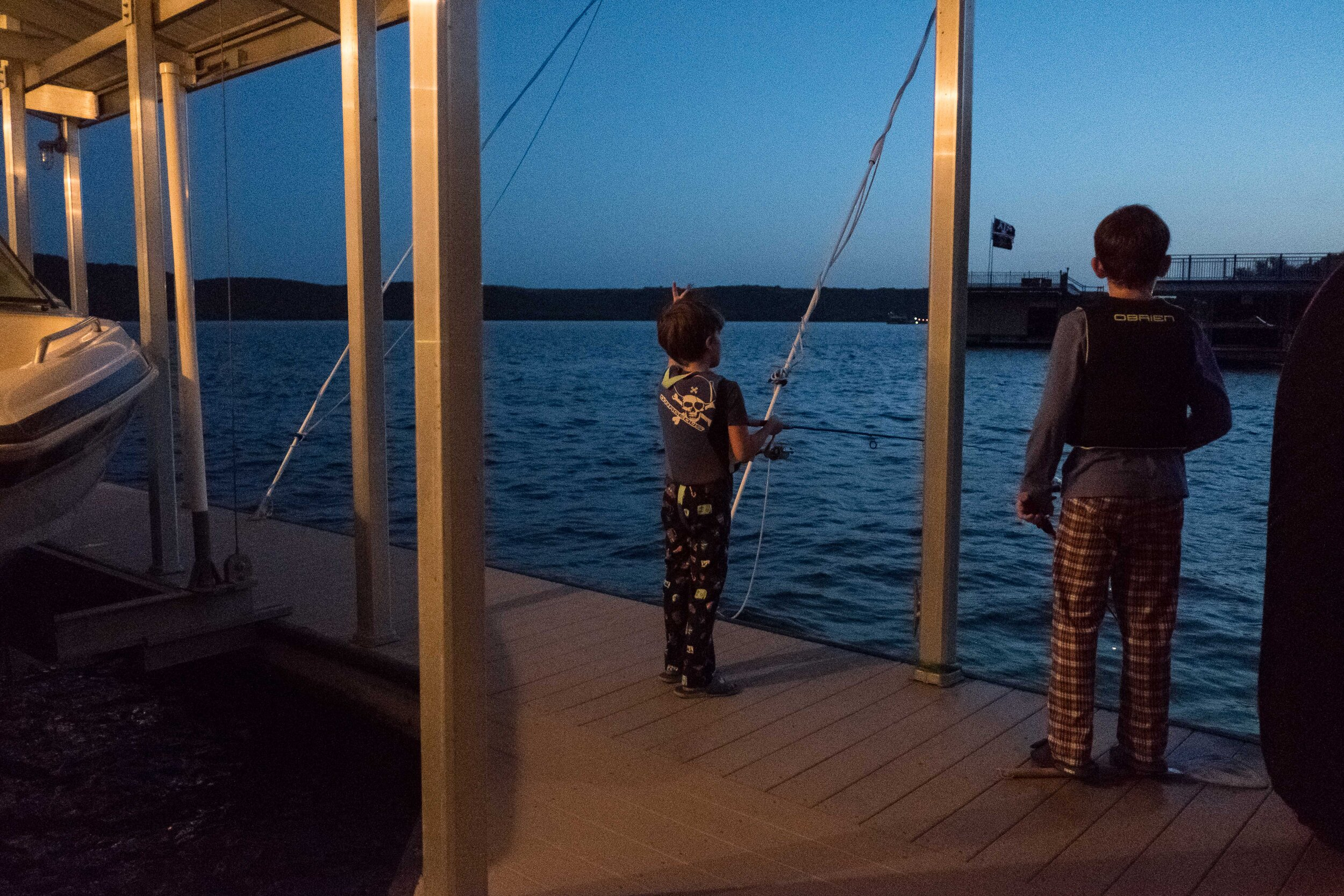 Night fishing capped off our last summer trip to the lake.
