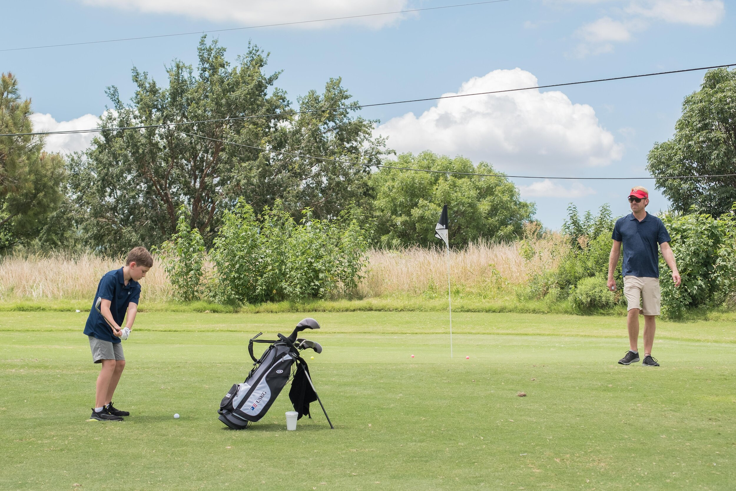 Michael played in his first Drive, Chip, Putt competition and he's just signed up for a fall Jr. PGA league. He's officially caught the golf bug.
