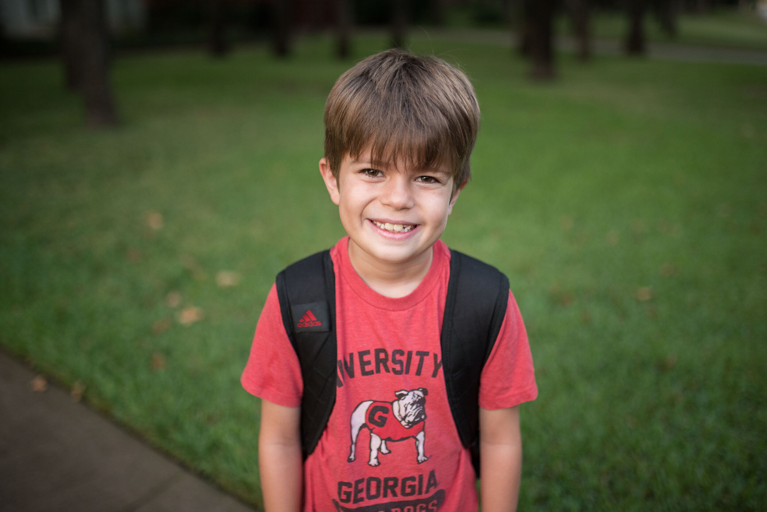 The first day of school came out of nowhere. Second grade for this one.